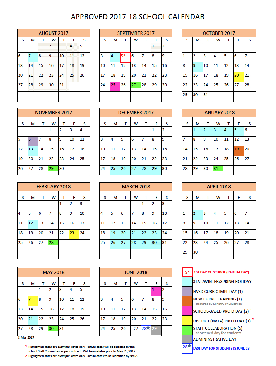 District Calendar  North Vancouver School District for Third Term School Calendar