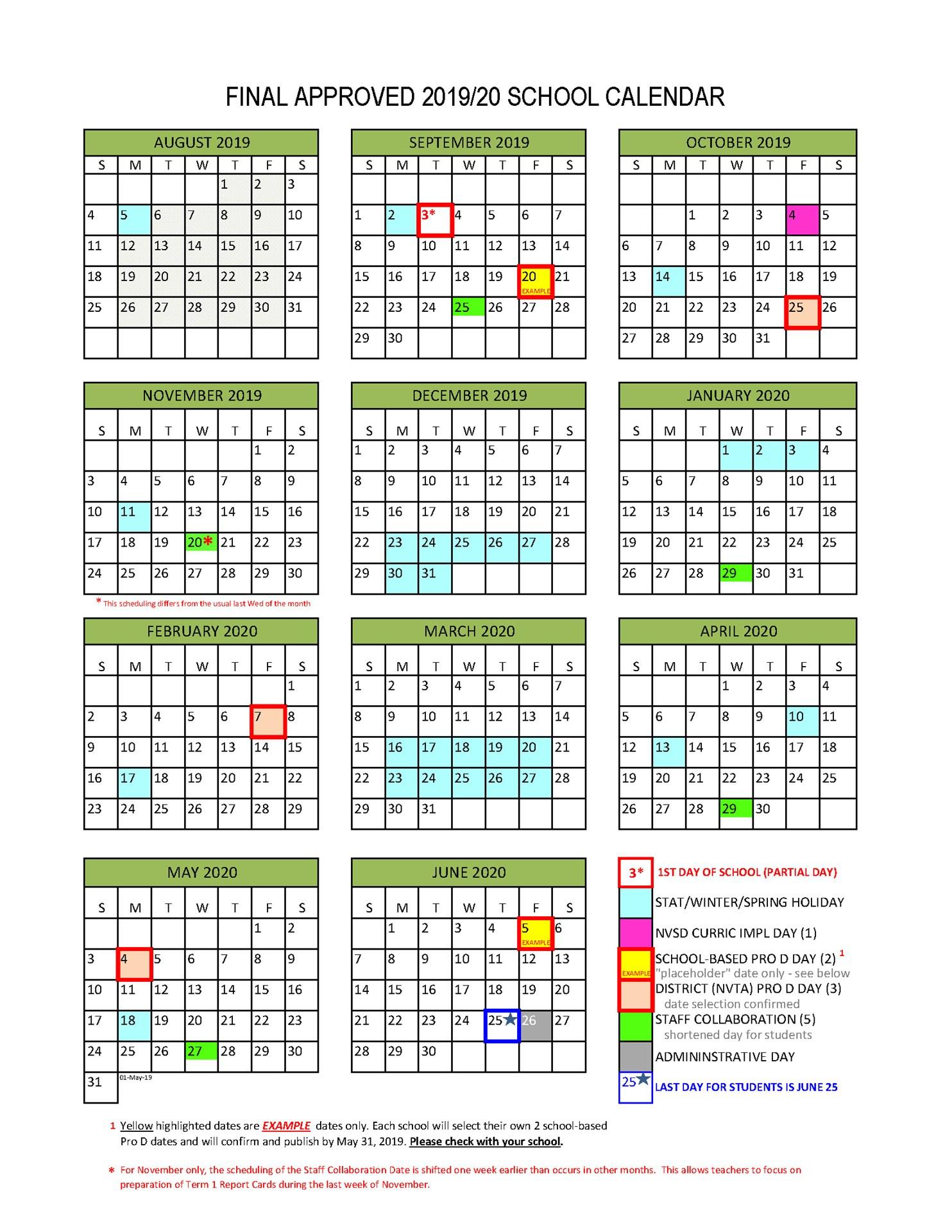 District Calendar  North Vancouver School District regarding Mulgrave School Calendar