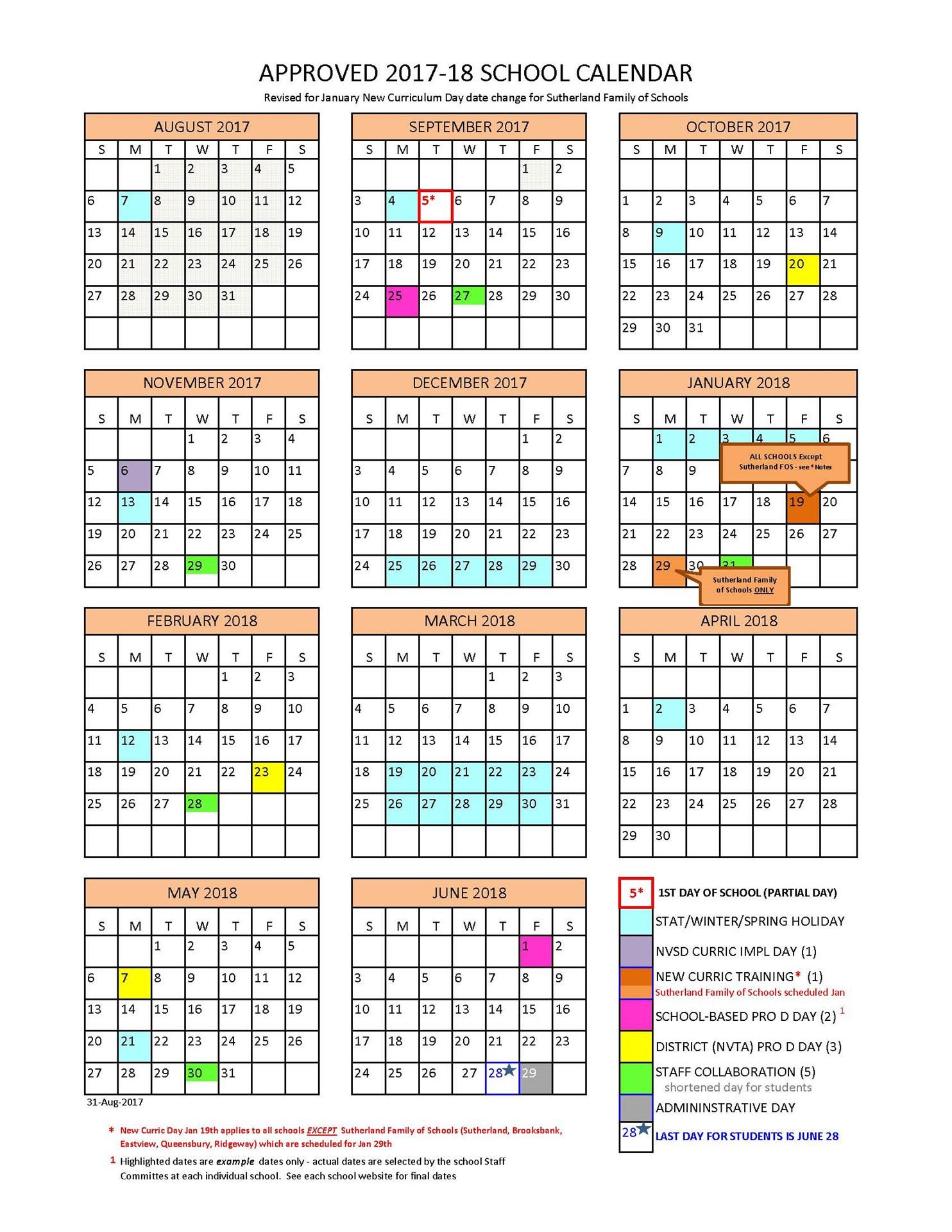 District Calendar  North Vancouver School District throughout Mulgrave School Calendar