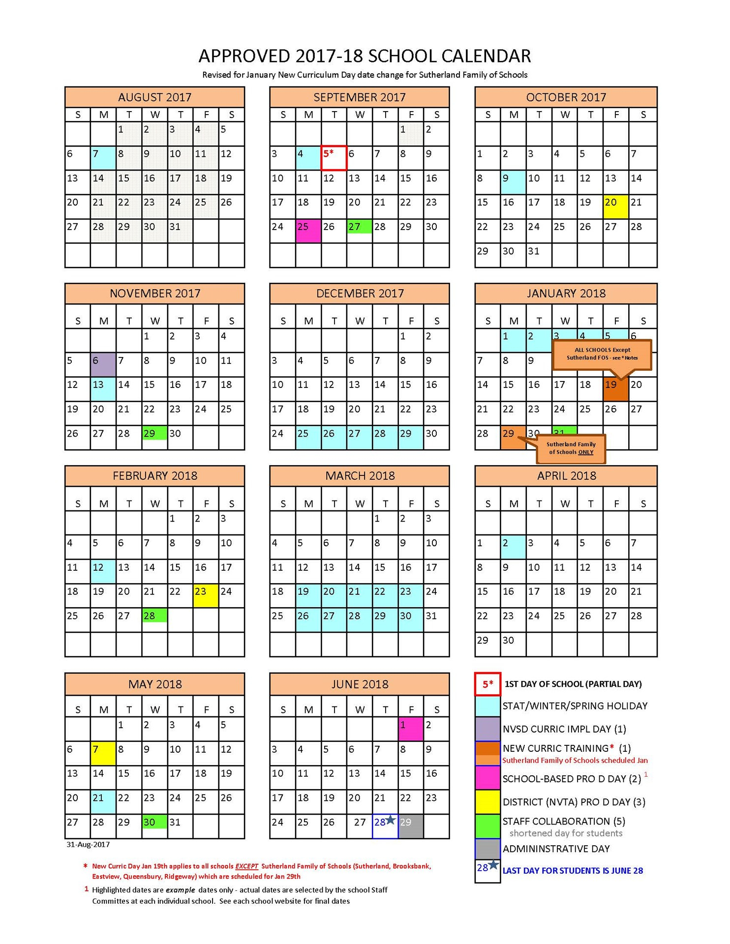 District Calendar  North Vancouver School District with Third Term School Calendar