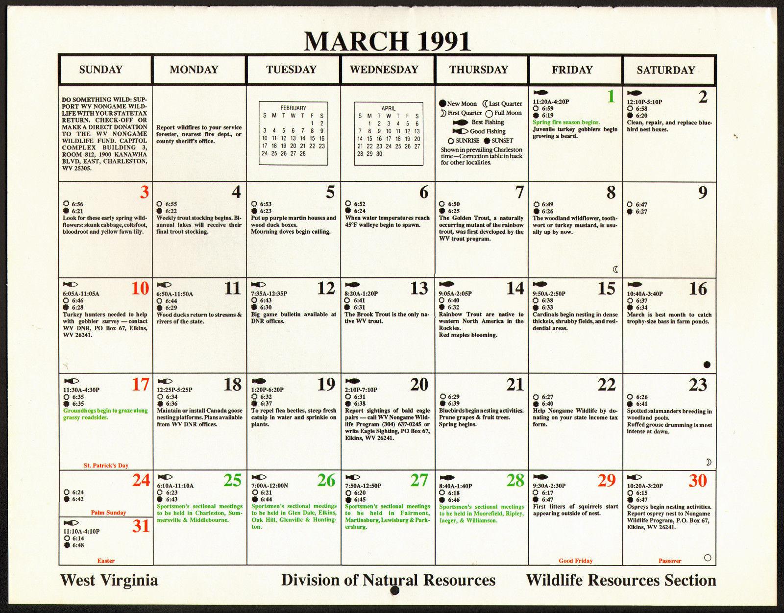 Download 1991 Calendar With Festivals Holidays | 2019 inside 1991 Calendar Year