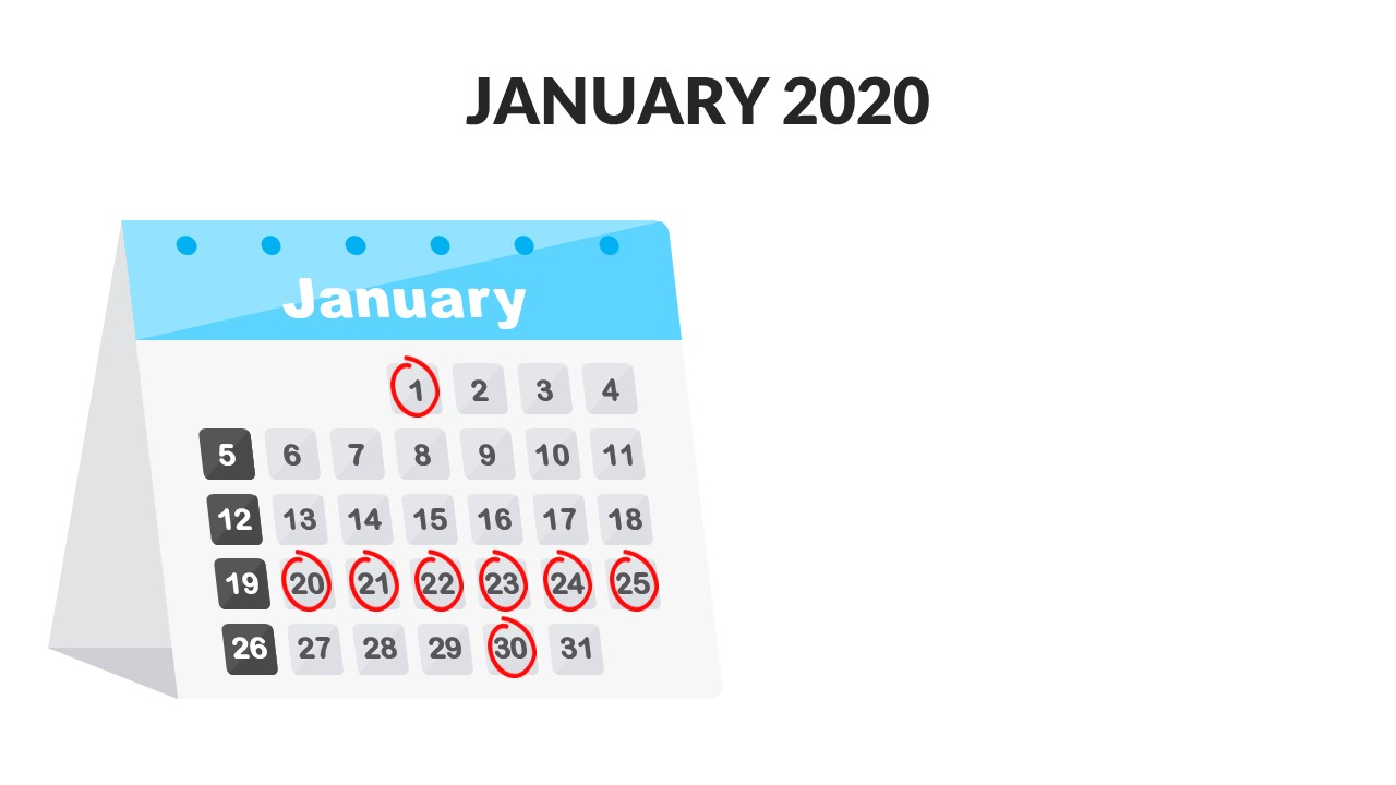Download 2020 Calendar For Powerpoint | Download Free with regard to Calendar Icon Powerpoint