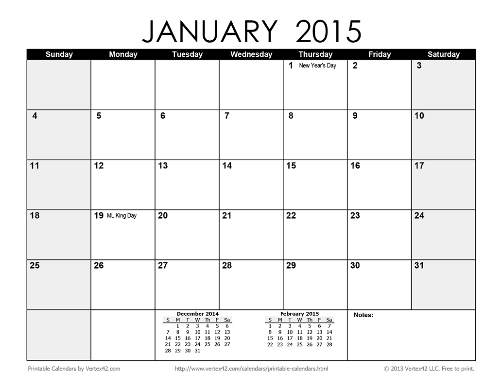 Download A Free Printable Monthly 2015 Calendar From throughout Vertex42 Monthly Calendar