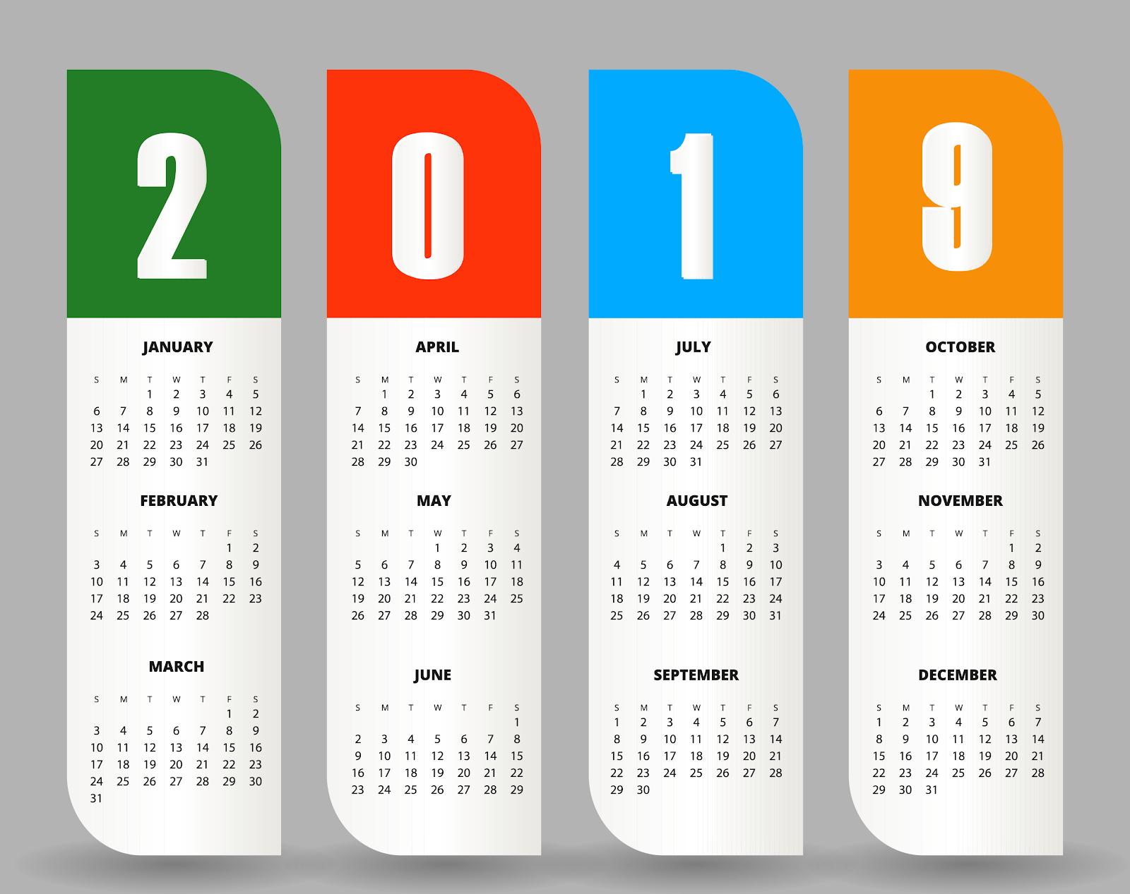 Download Icon Calendar 2019 Svg Eps Psd Ai Vector Color Free for Calendar Icon Psd