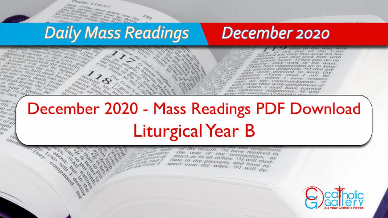 Download Mass Readings  December 2020  Catholic Gallery intended for Catholic Liturgical Calendar 2020 With Daily Readings