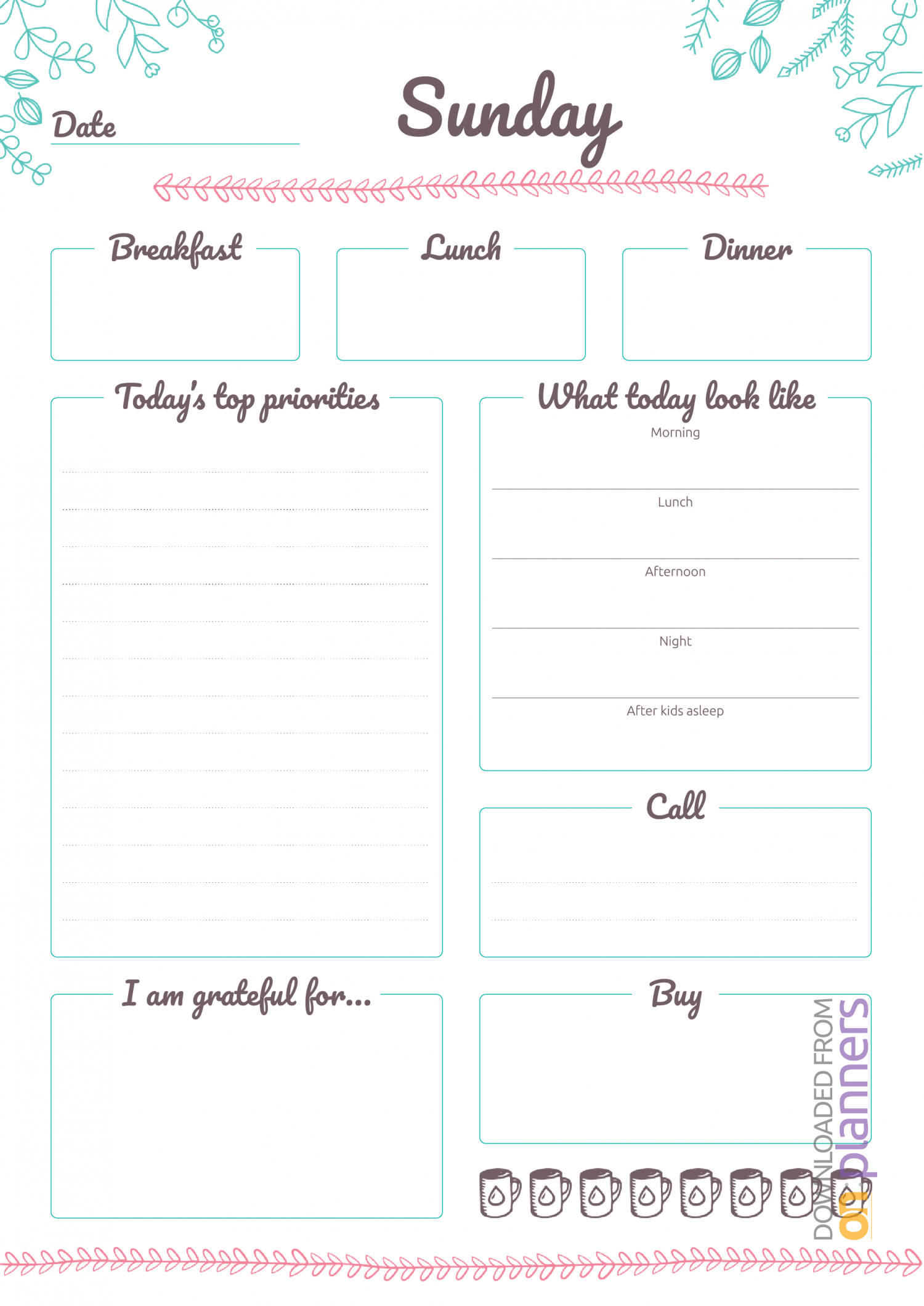 Download Printable 7 Days Weekly Planner Pdf inside 7 Days A Week Planner