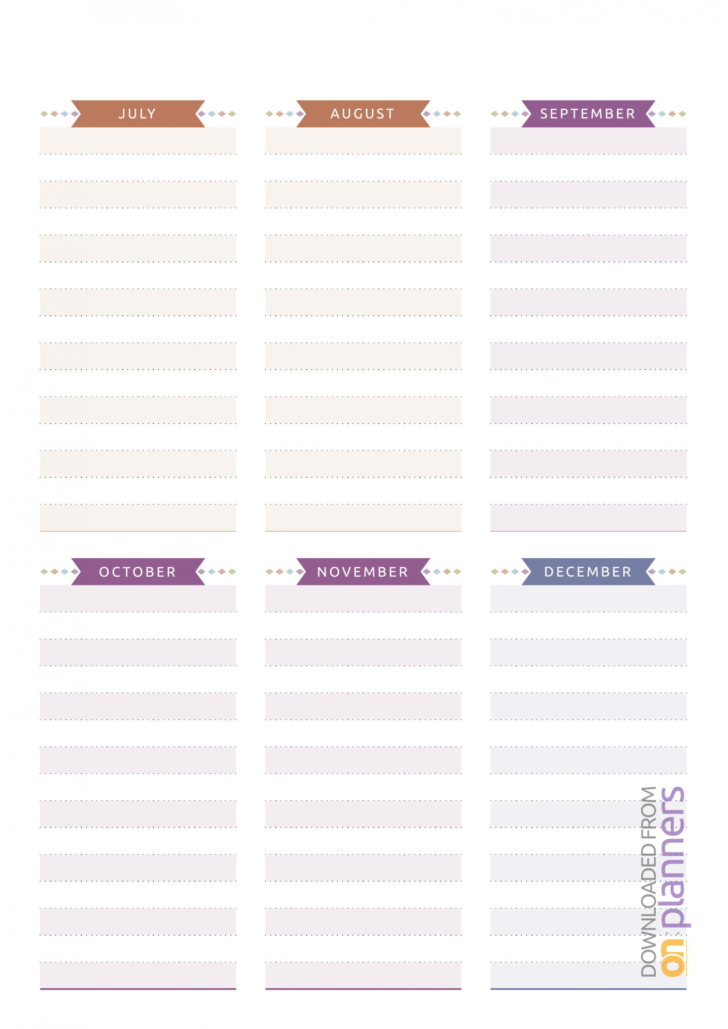 Download Printable Birthday Calendar  Casual Style Pdf with regard to Monthly Birthday Calendar Template