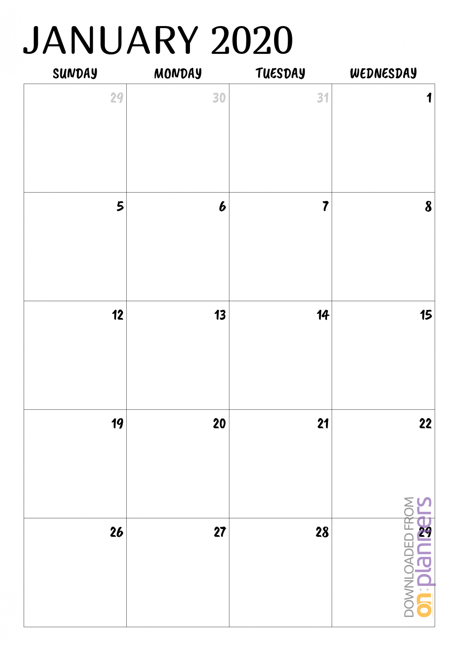Download Printable Minimal Monthly Calendar Pdf pertaining to Printable Monthly Calendar