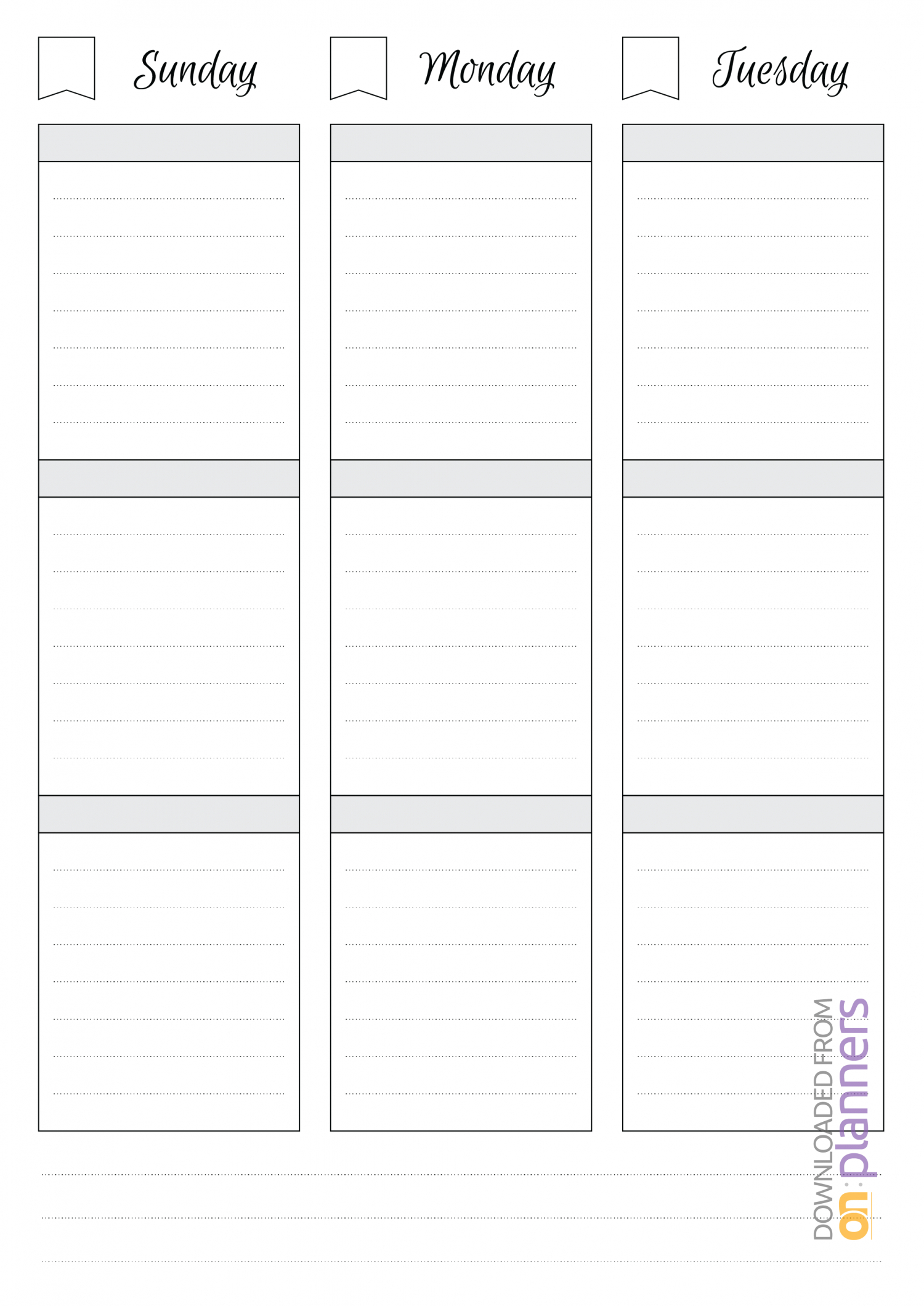 Download Printable Undated Weekly Schedule Pdf within Monday Through Saturday Schedule Template