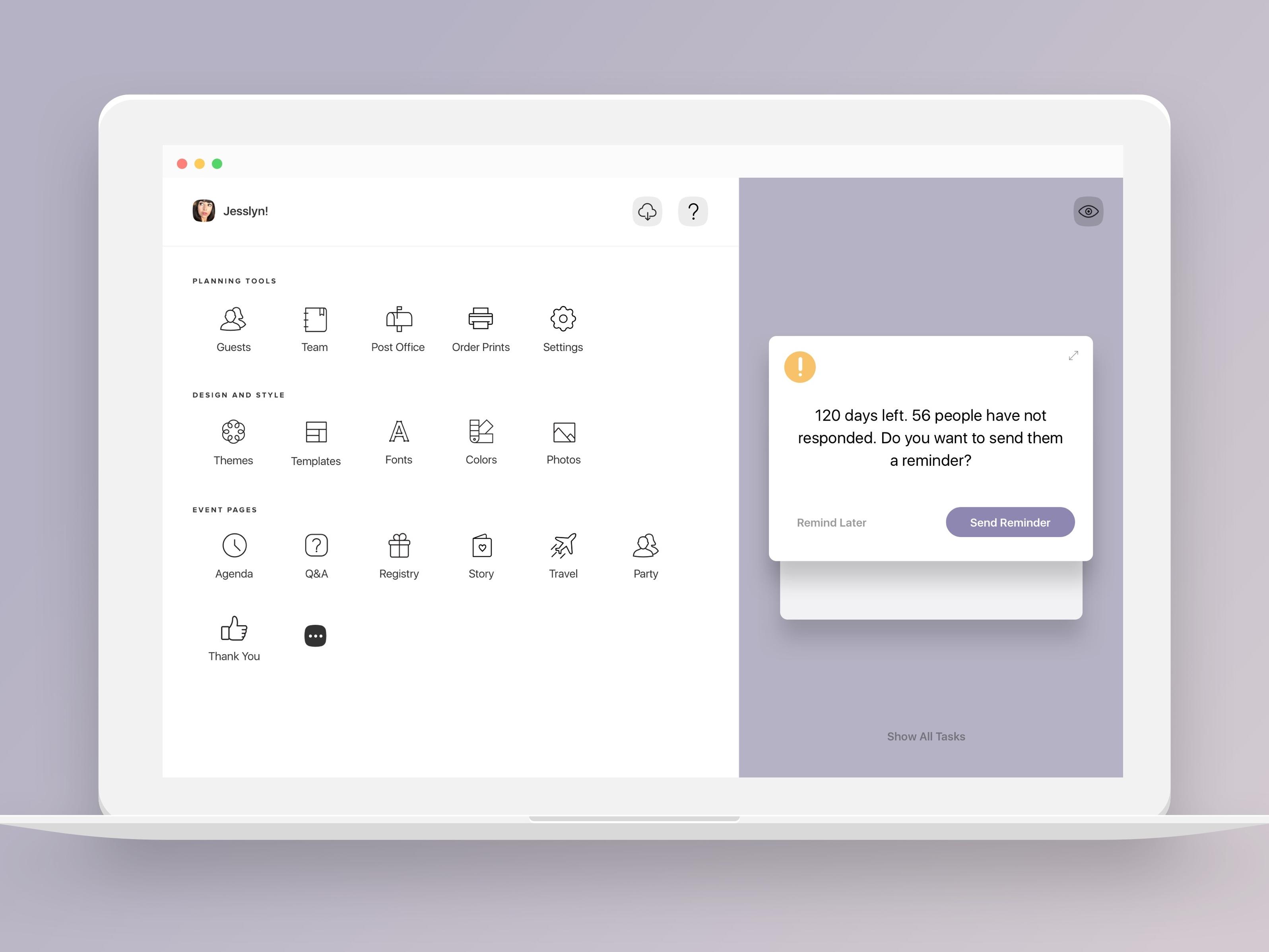 Dribbble  Joyherodesktop By Joy in Desktop Reminder Gadget