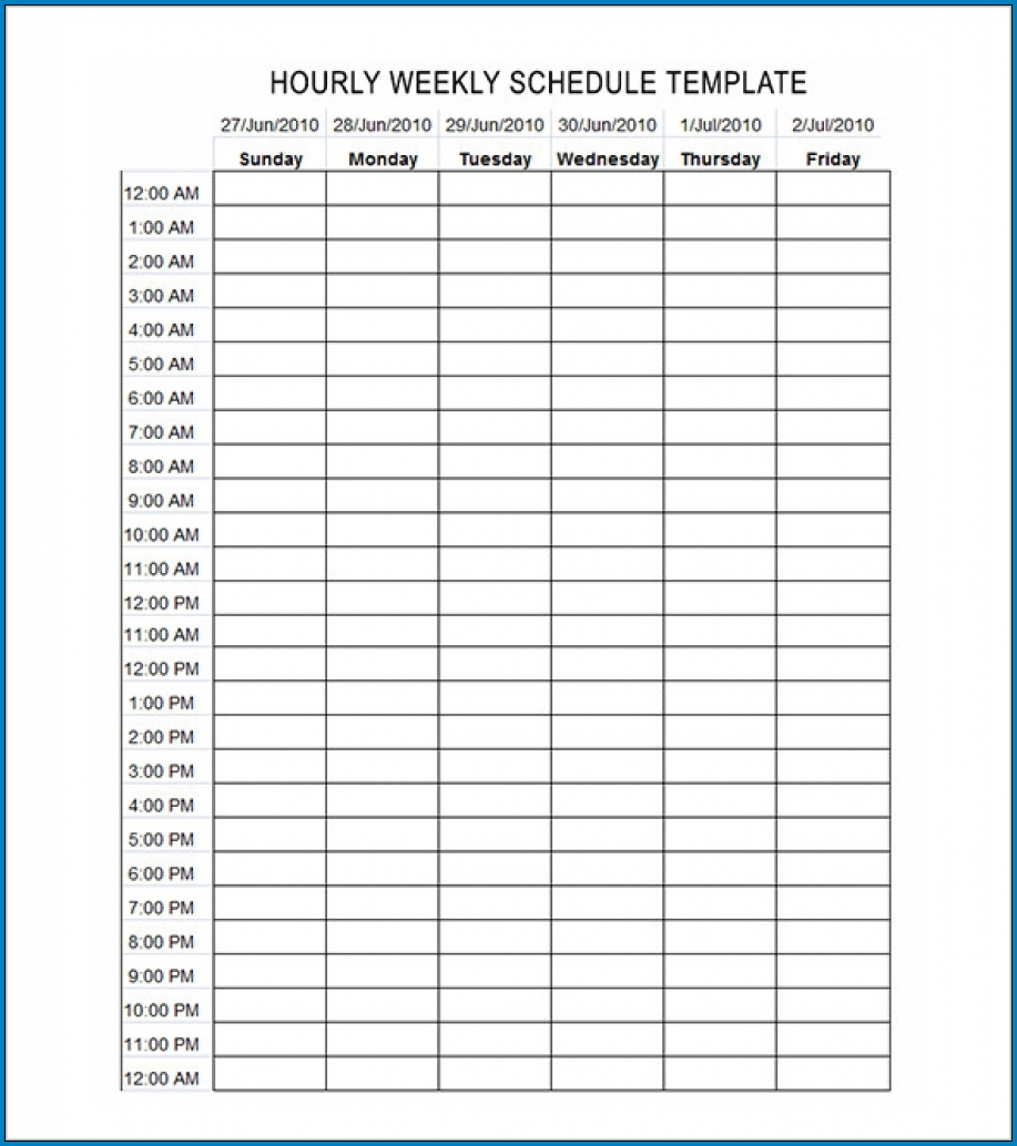√ Free Editable Schedule Template Hourly | Templateral inside Hourly Weekly Schedule Pdf