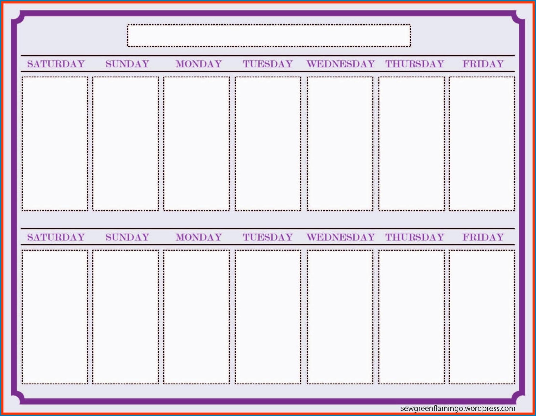 √ Free Printable 2 Week Calendar Template | Templateral pertaining to Printable Two Week Calendar Template