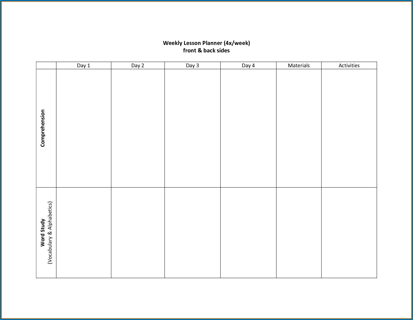 √ Free Printable 2 Week Calendar Template | Templateral with Blank Weekly Calender