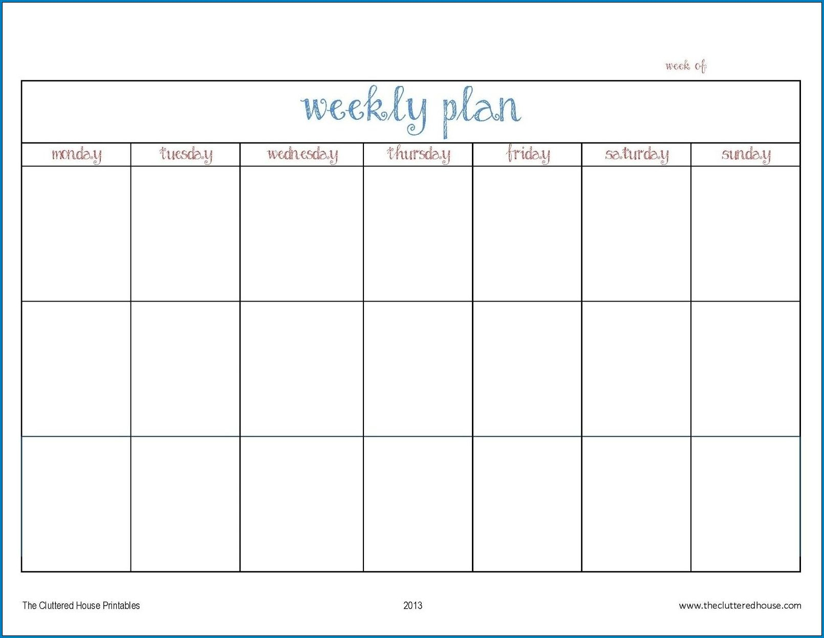 √ Free Printable Weekly Planner Template | Templateral regarding Printable 5 Day Week Calendar