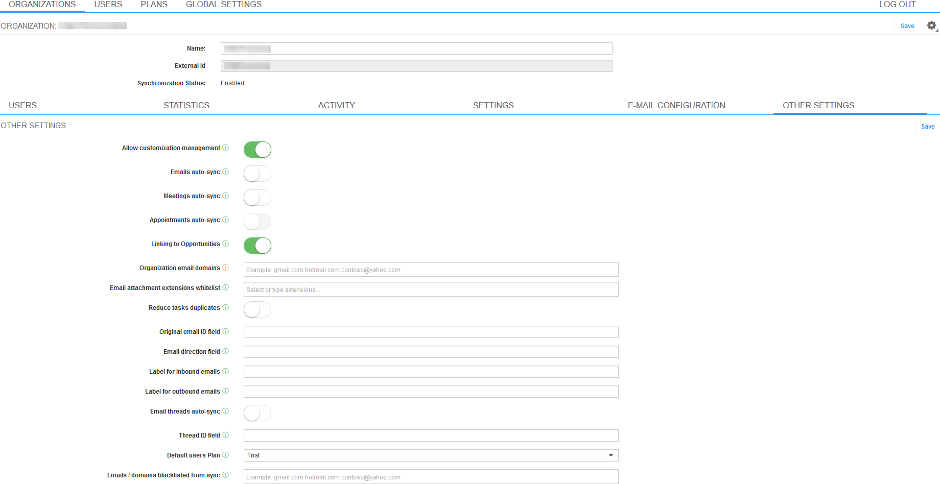 ❍ Smartcloud Connect Admin Panel Special Settings regarding Calendar Permissions Greyed Out