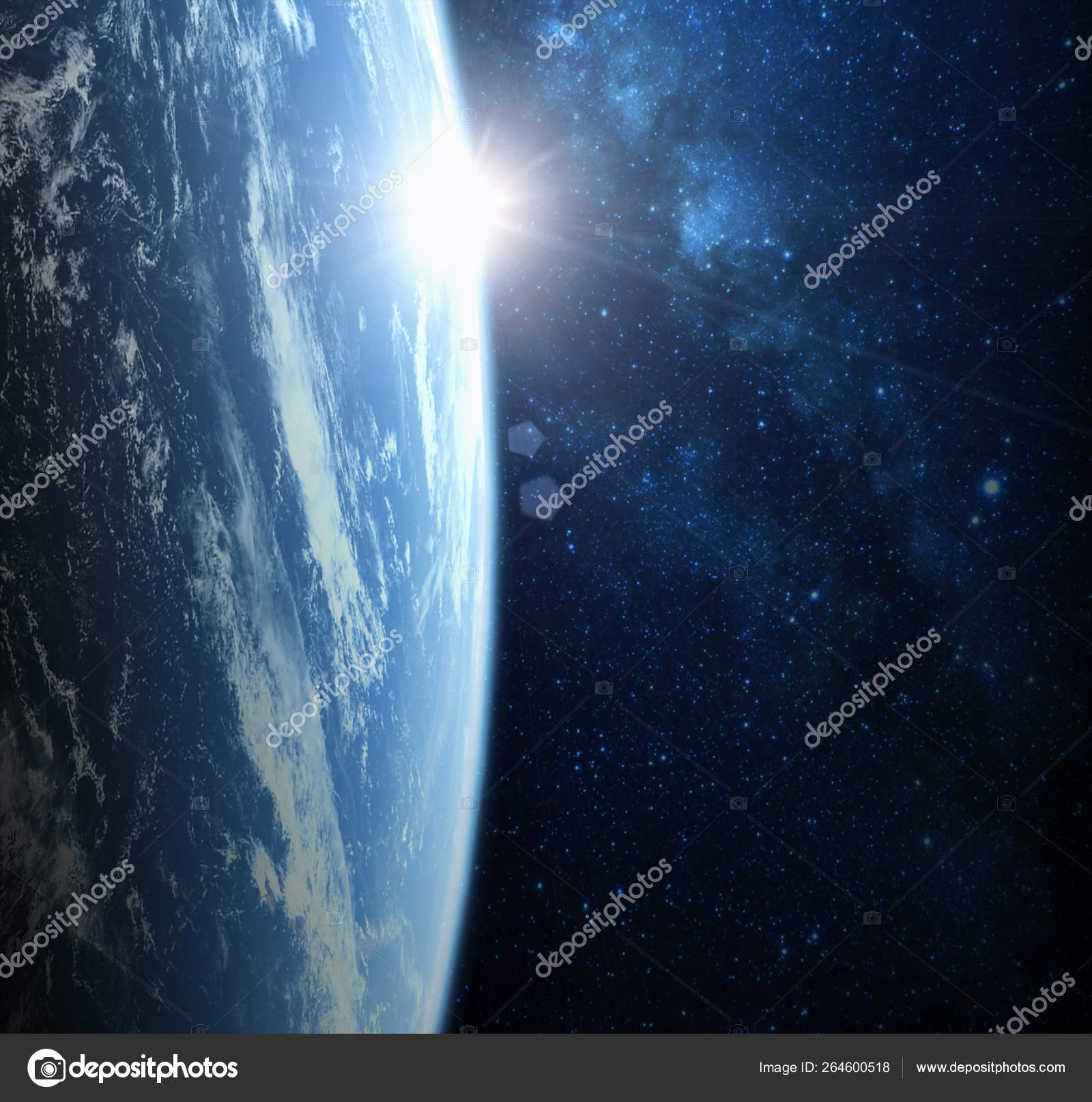 Earth Planet From Space On A Star Field — Стоковое Фото pertaining to Space Related Pictures