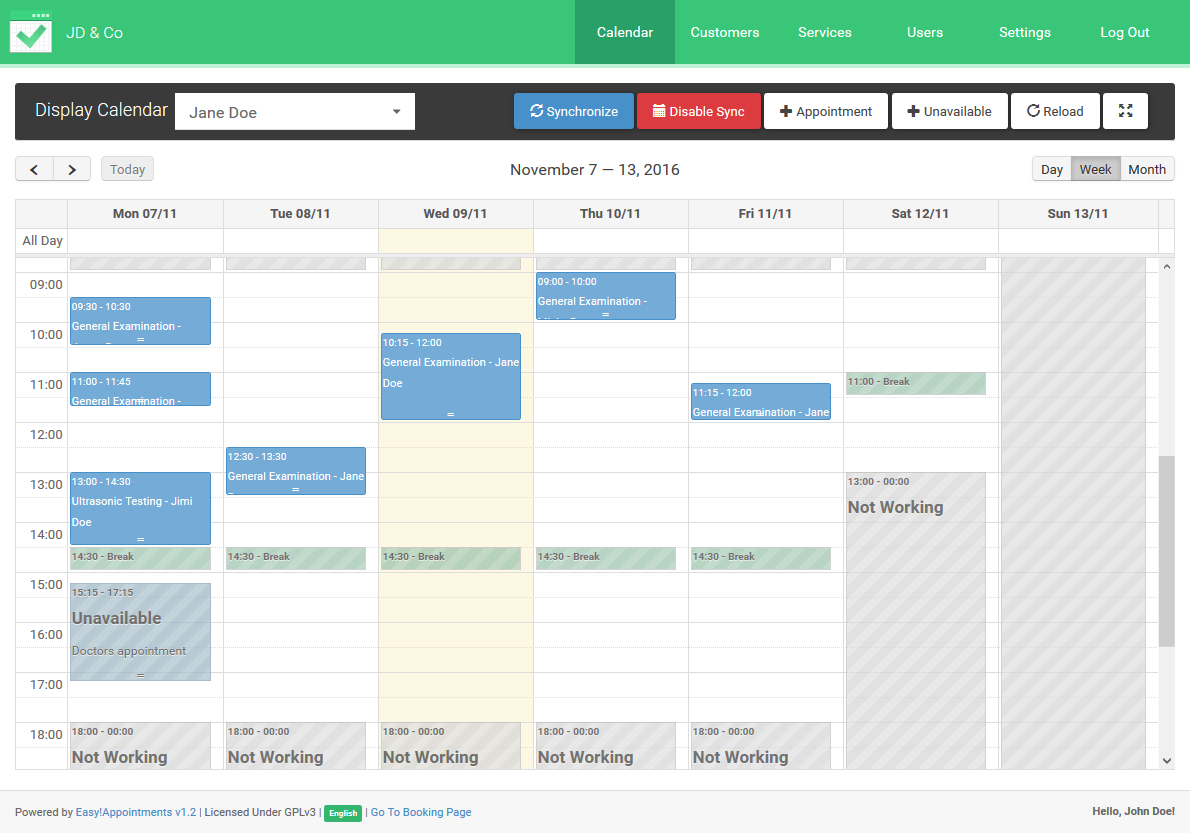 Easy Appointment Scheduling With Easy!appointments with Php Calendar Event Scheduler Code