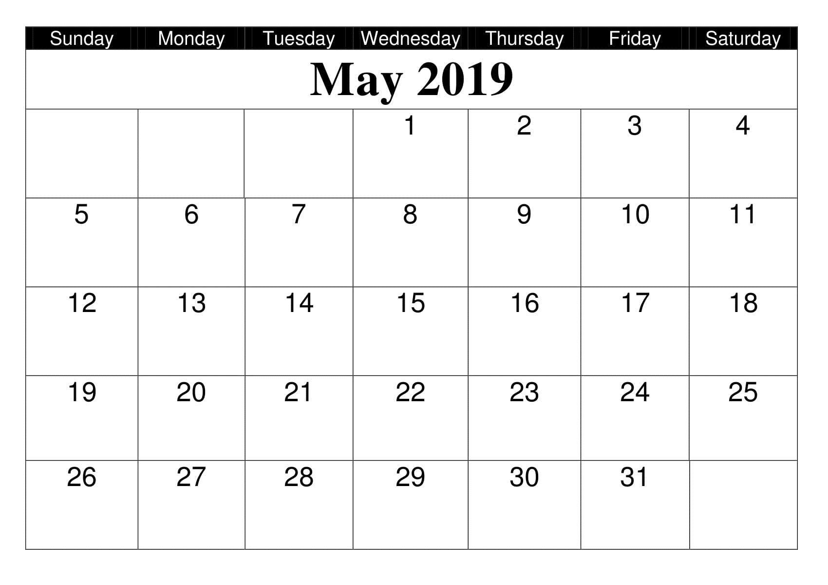 Editable May 2019 Calendar Printable Template In Portrait regarding Google Calendar Printable Template