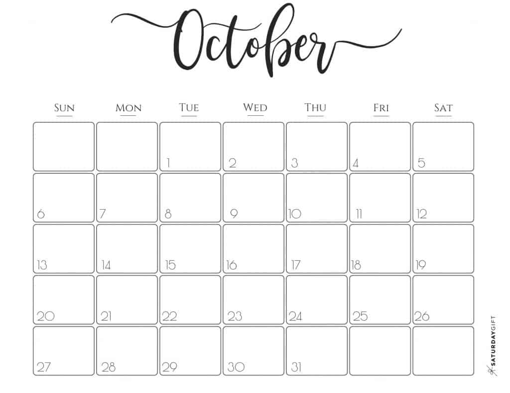 Elegant 2019 Calendar {Free Printables} | Saturdaygift in Pretty Printable Calendar