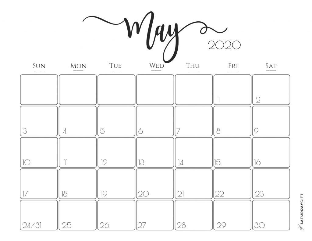 Elegant 2020 Calendar {Free Printables} | Printable Calendar pertaining to Pretty Printable Calendar