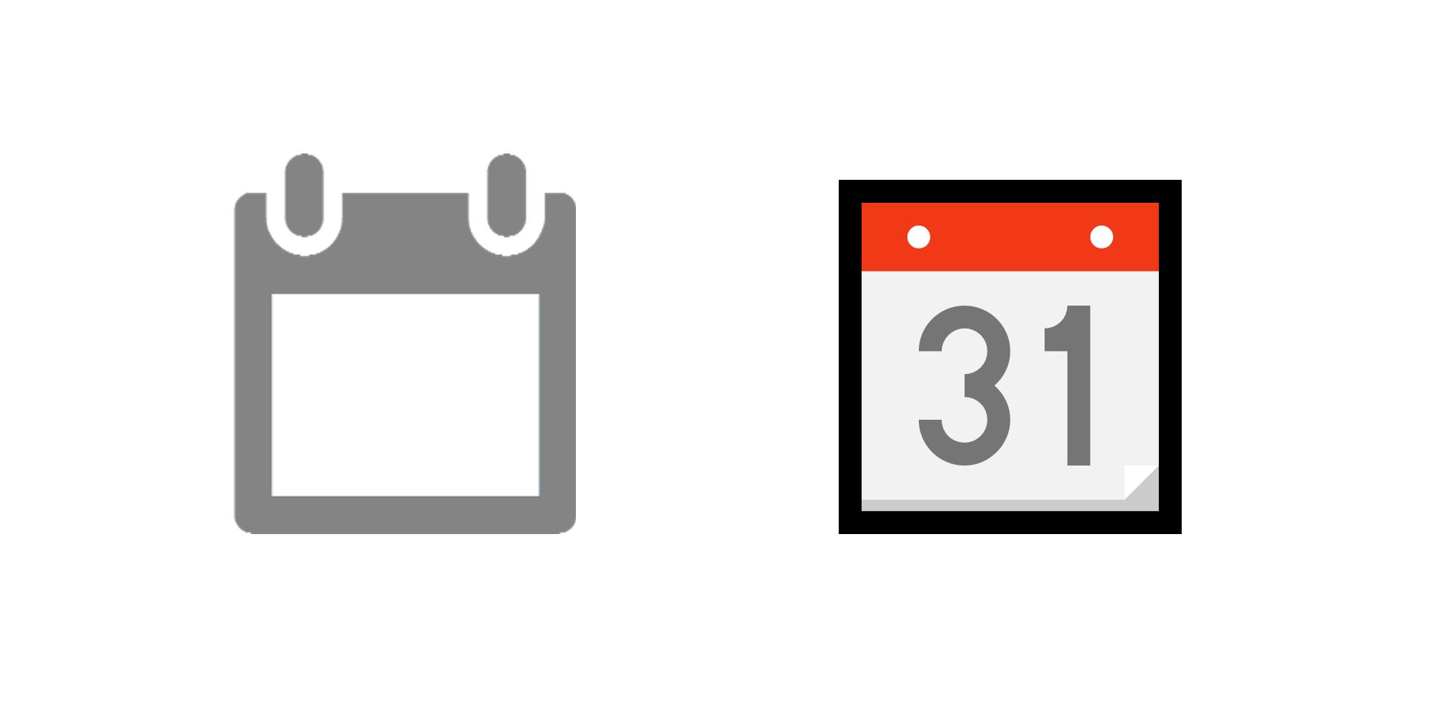 Emoji Calendsa inside Calendar Emoji Png