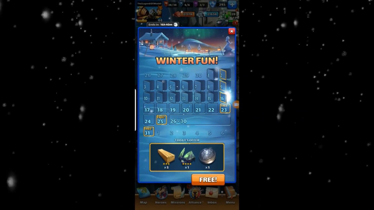 Empires & Puzzles: The Complete Winter Daily Calendar regarding Calendar Empires And Puzzles