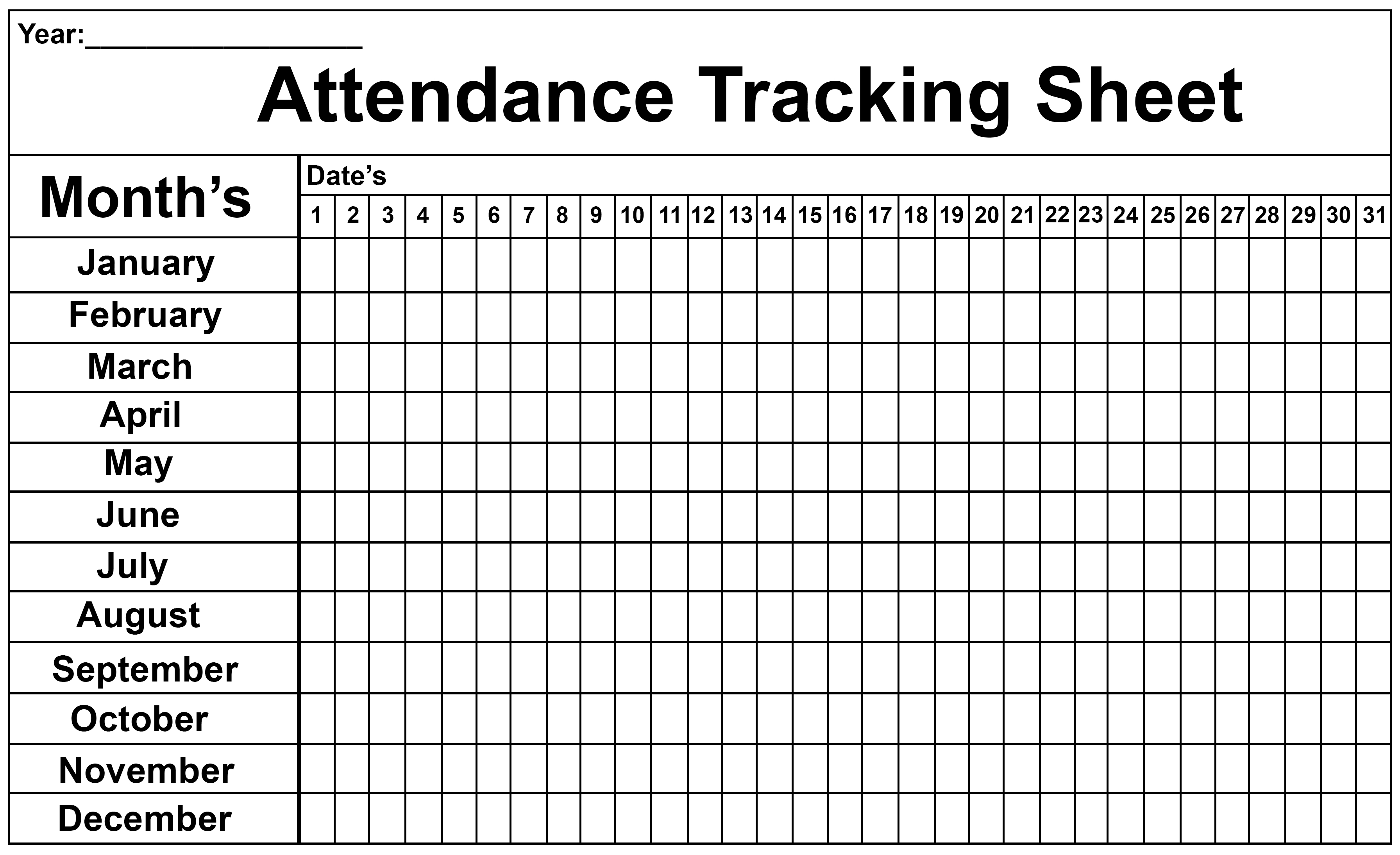 Employee Attendance Tracker Sheet 2019 | Printable Calendar Diy intended for Free Printable 2020 Employee Attendance Calendar