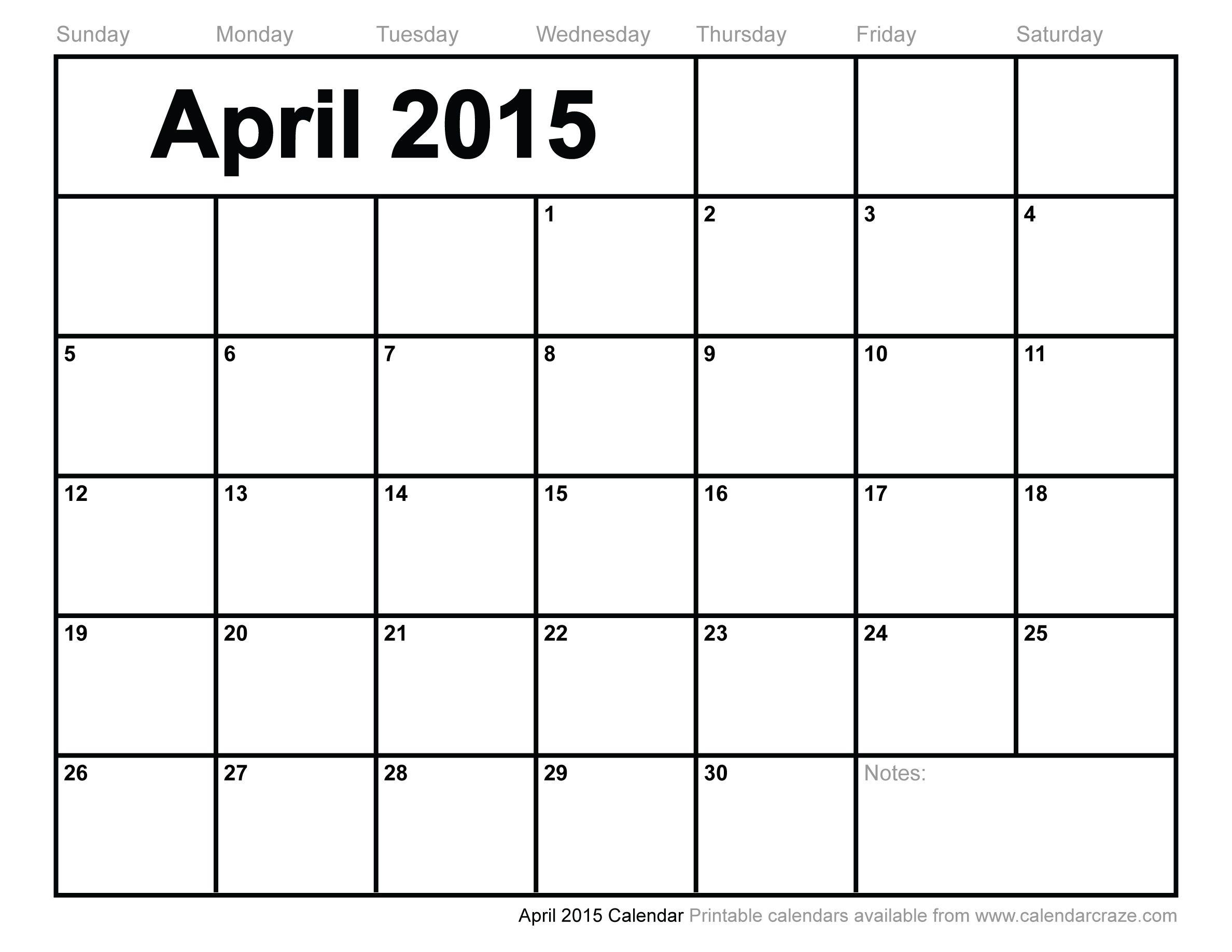 Empty Calendar Template 2015  Bolan.horizonconsulting.co for Empty Printable Calendar