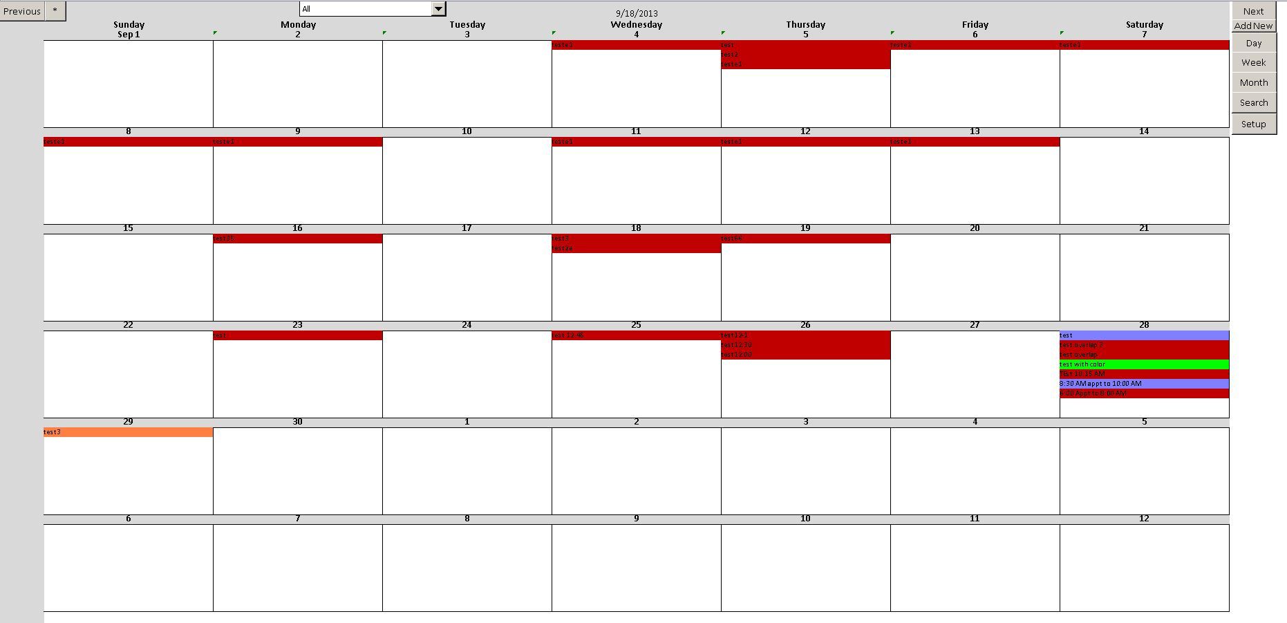 Enhanced Microsoft Excel Calendar Scheduling Database Template inside Excel Vba Calendar