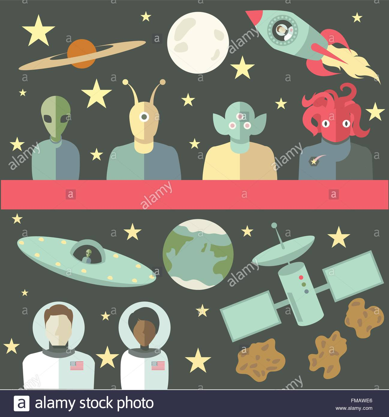 Eps Vector Of Outer Space Related Characters And Objects within Space Related Pictures