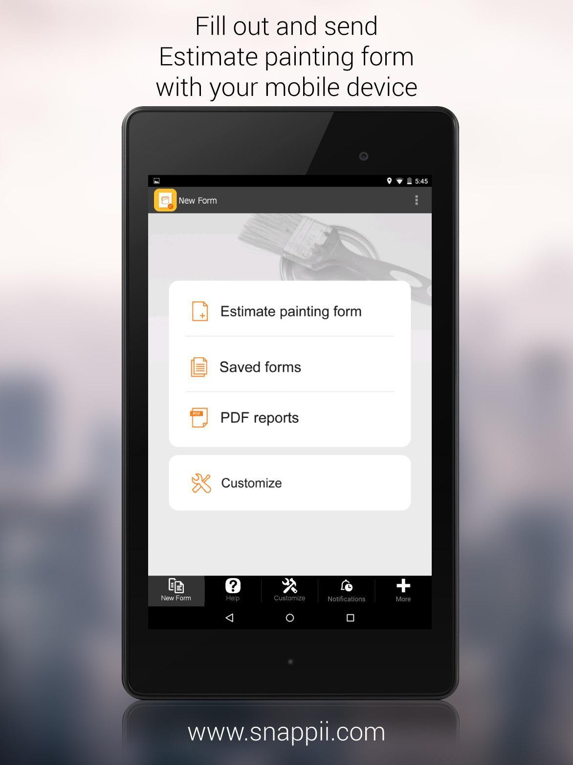 Estimate Painting Form App Для Андроид  Скачать Apk inside Painting Estimate Form