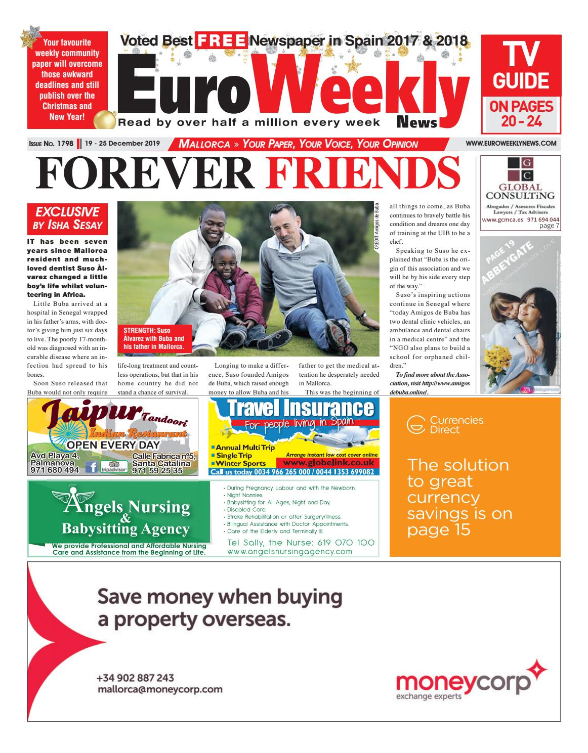 Euro Weekly News  Mallorca 19  25 December 2019 Issue 1798 regarding Isha Lunar Calendar 2020