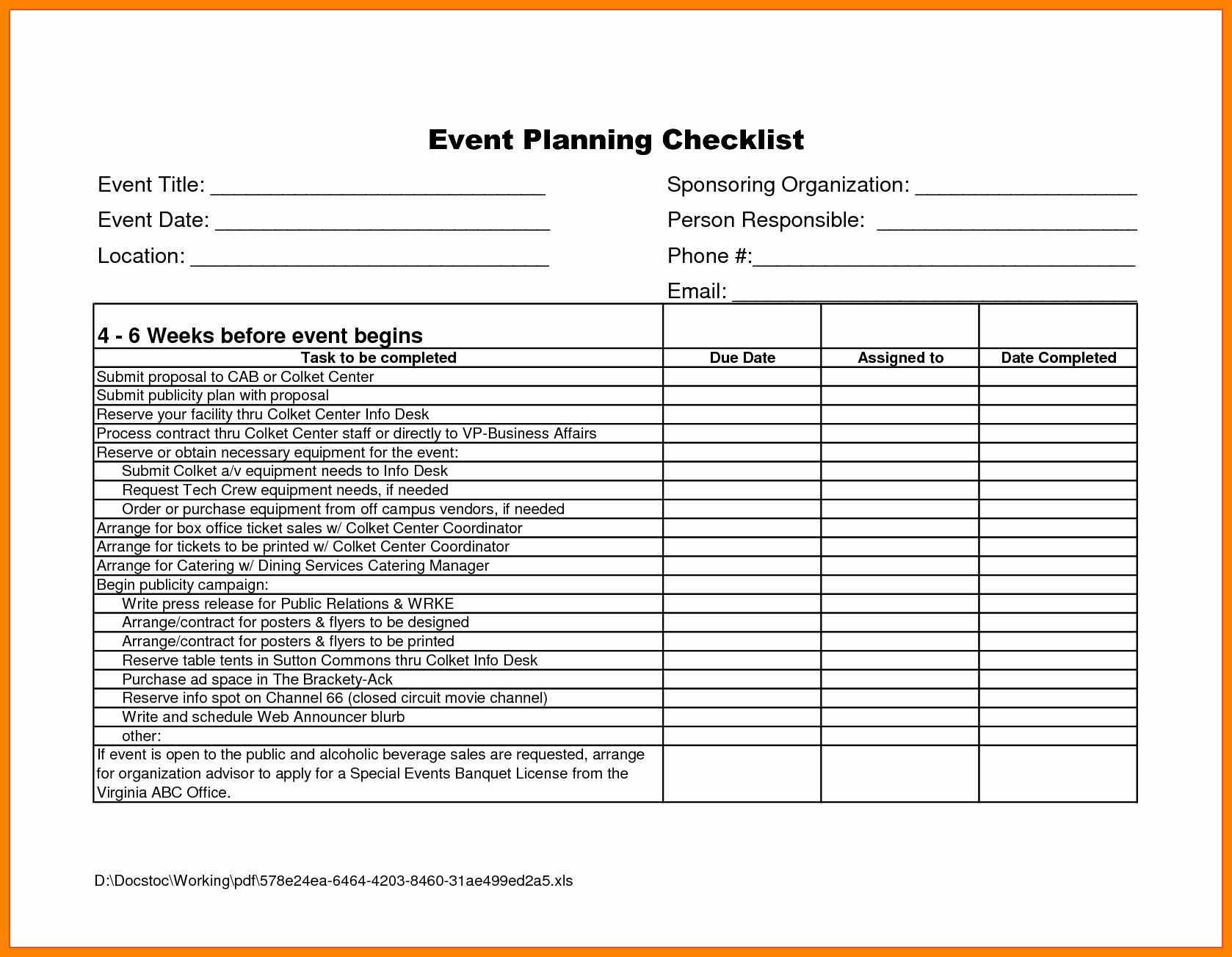 Event Business Plan Template Format Decor Sample Promotion pertaining to Conference Planning Template Excel