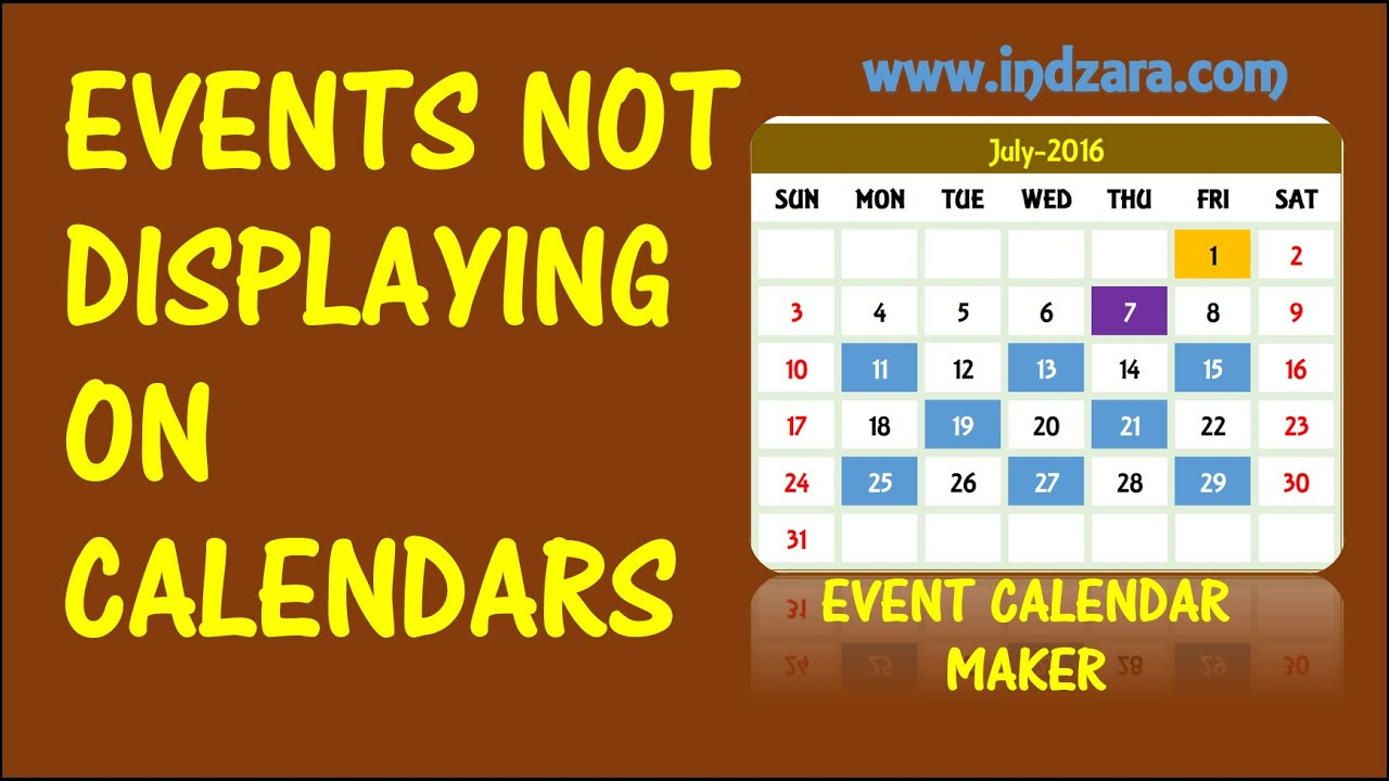 Event Calendar Maker  Excel Template  Events Not Displayed pertaining to Calendar Creator Excel
