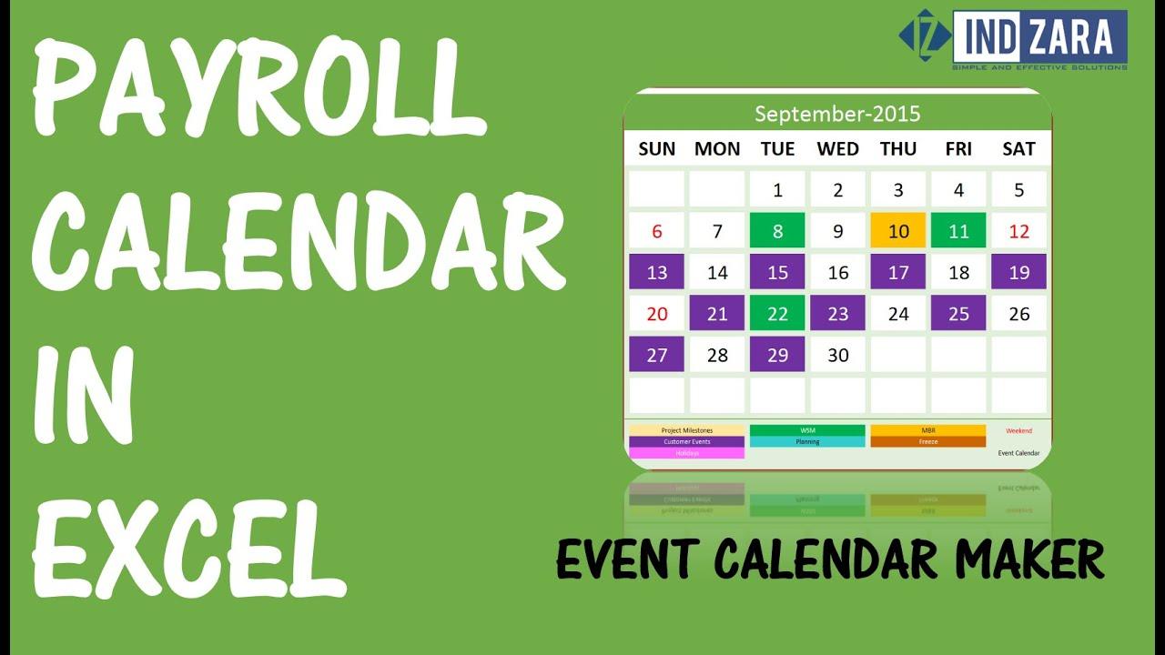 Event Calendar Maker  Excel Template  V2  Support | Indzara for Calendar Creator Excel