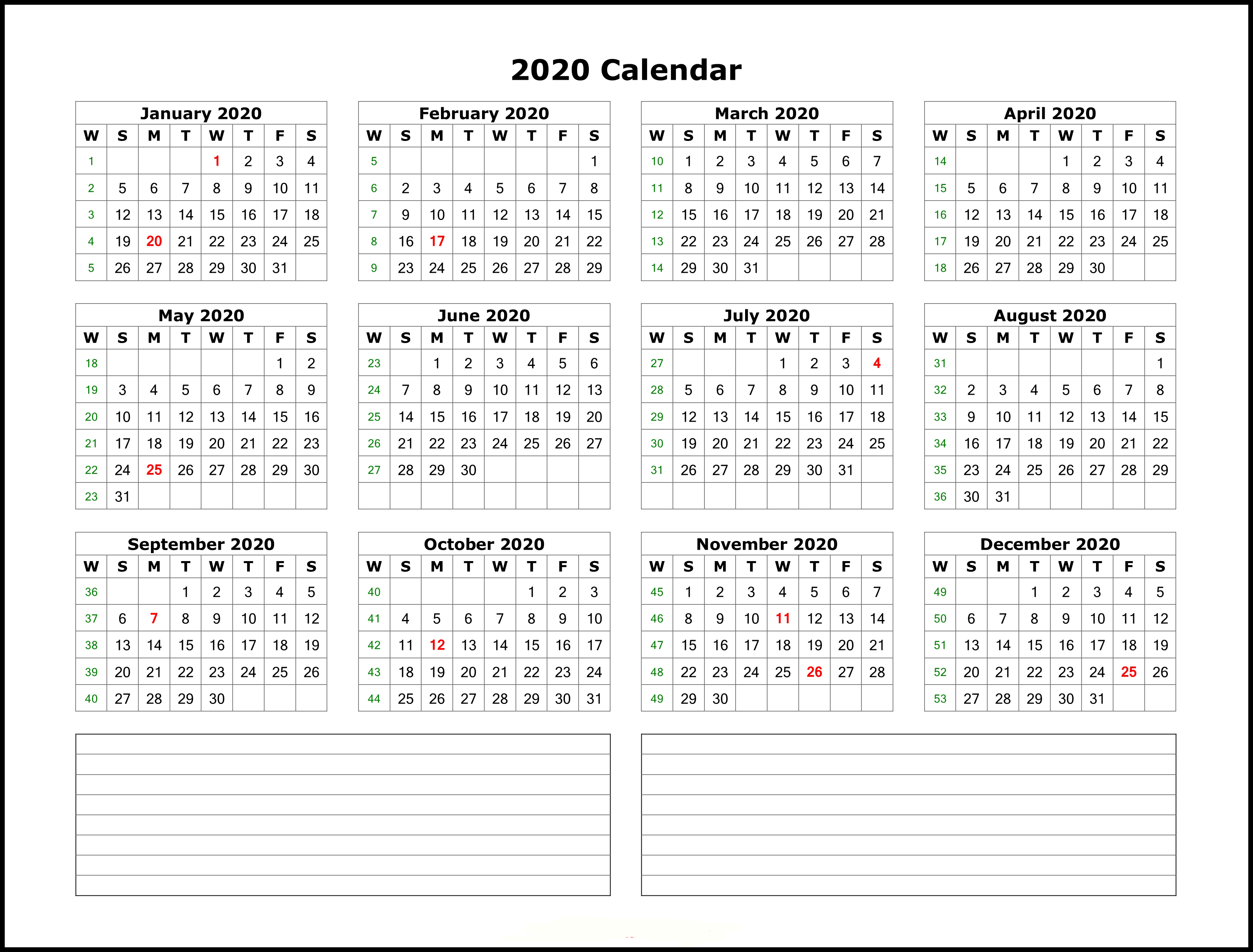 Event Calendar Template 2020  Yatay.horizonconsulting.co in 2020 Excel Calendar Free