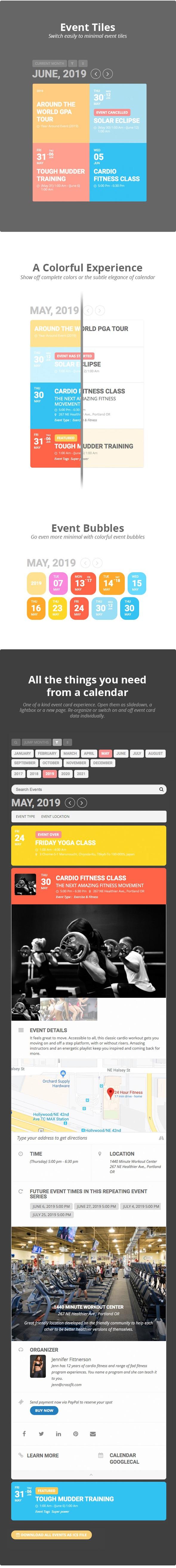 Eventon — WordPress Event Calendar Плагин within Stachethemes Event Calendar