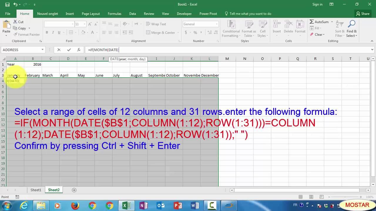 Excel: Annual Perpetual Calendar regarding Perpetual Calendar Excel
