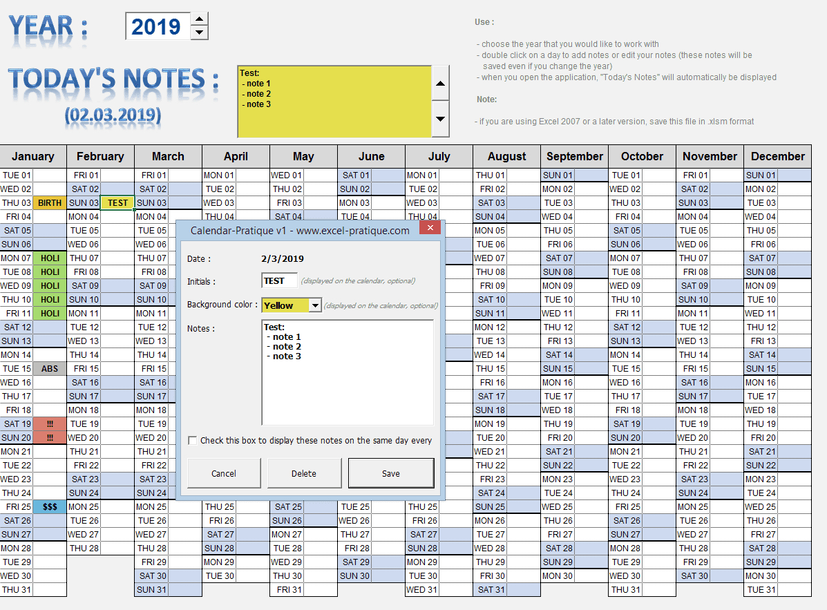 "Excel Applications ""calendars"" for Perpetual Calendar Excel"