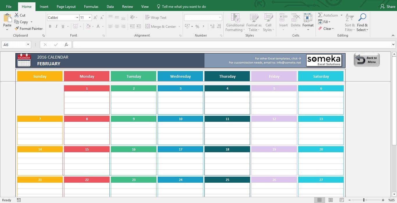 Excel Calendar Template 2019 Free Printable Calendar Make A for Calendar Excel Template