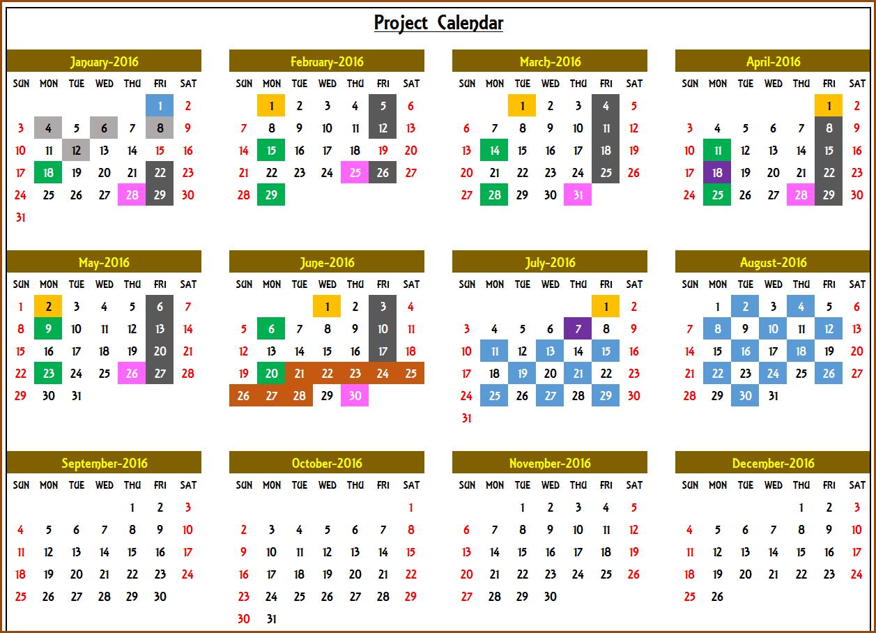 Excel Calendar Template  Excel Calendar 2019, 2020 Or Any within Annual Calendar Template Excel