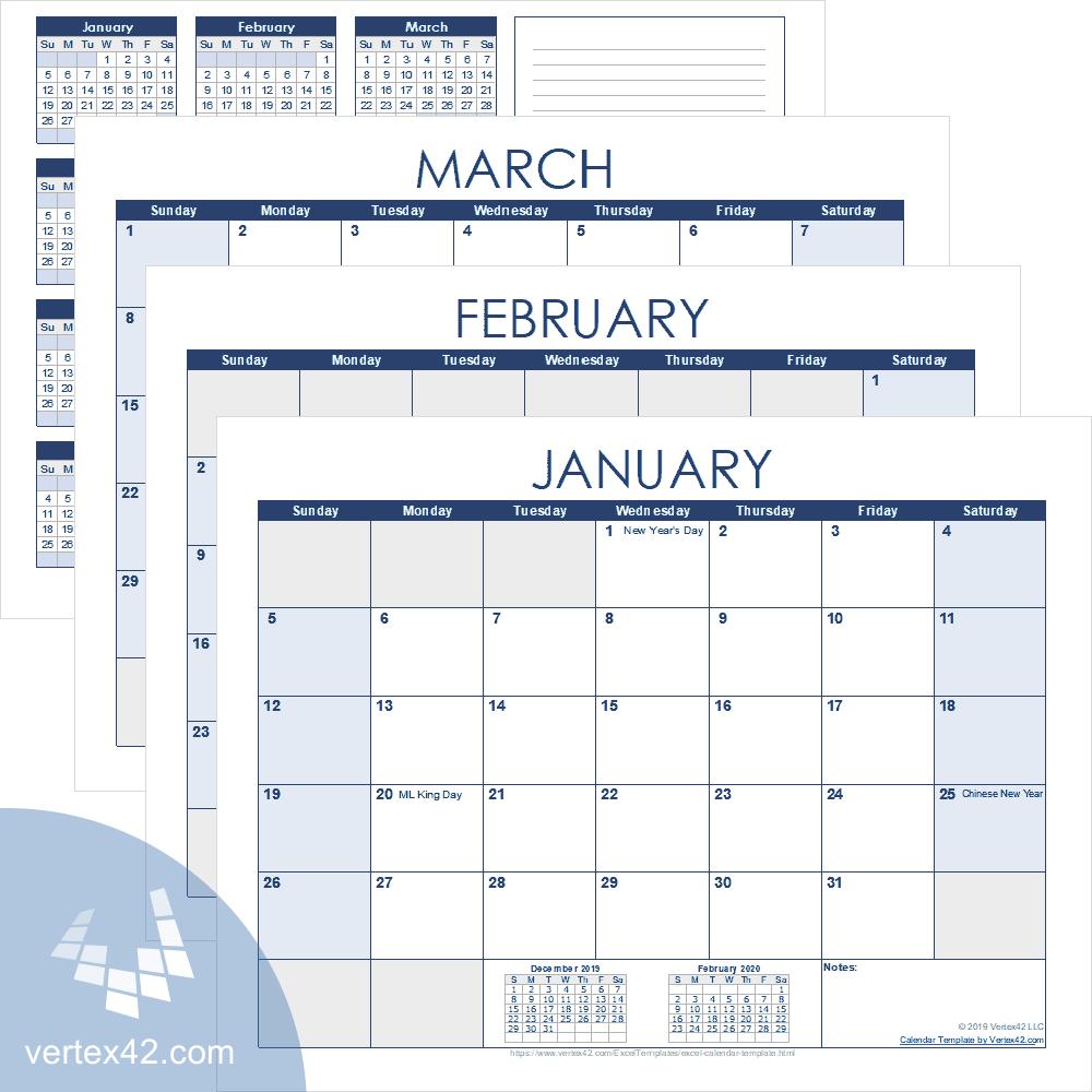 Excel Calendar Template For 2020 And Beyond regarding Excel Lunar Calendar Formula