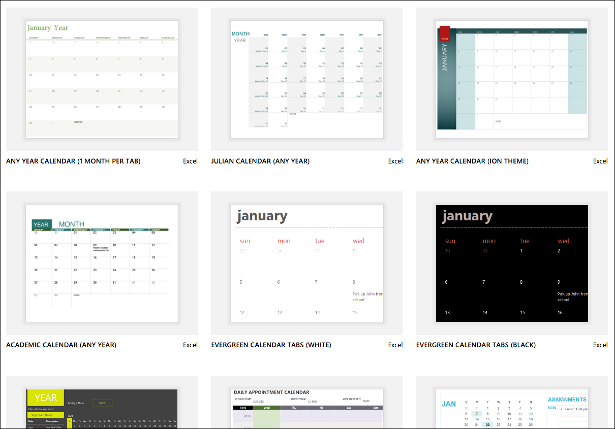 Excel Calendar Templates  Excel with Vacation Calendar Template
