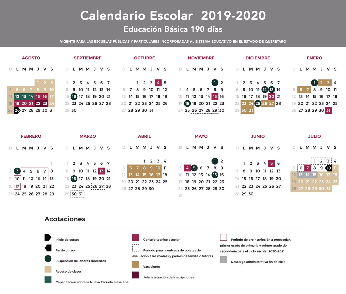 💣 Descargar Calendario Escolar 2019 A 2020 Sep regarding Calendario Escolar Sep 2020 2020