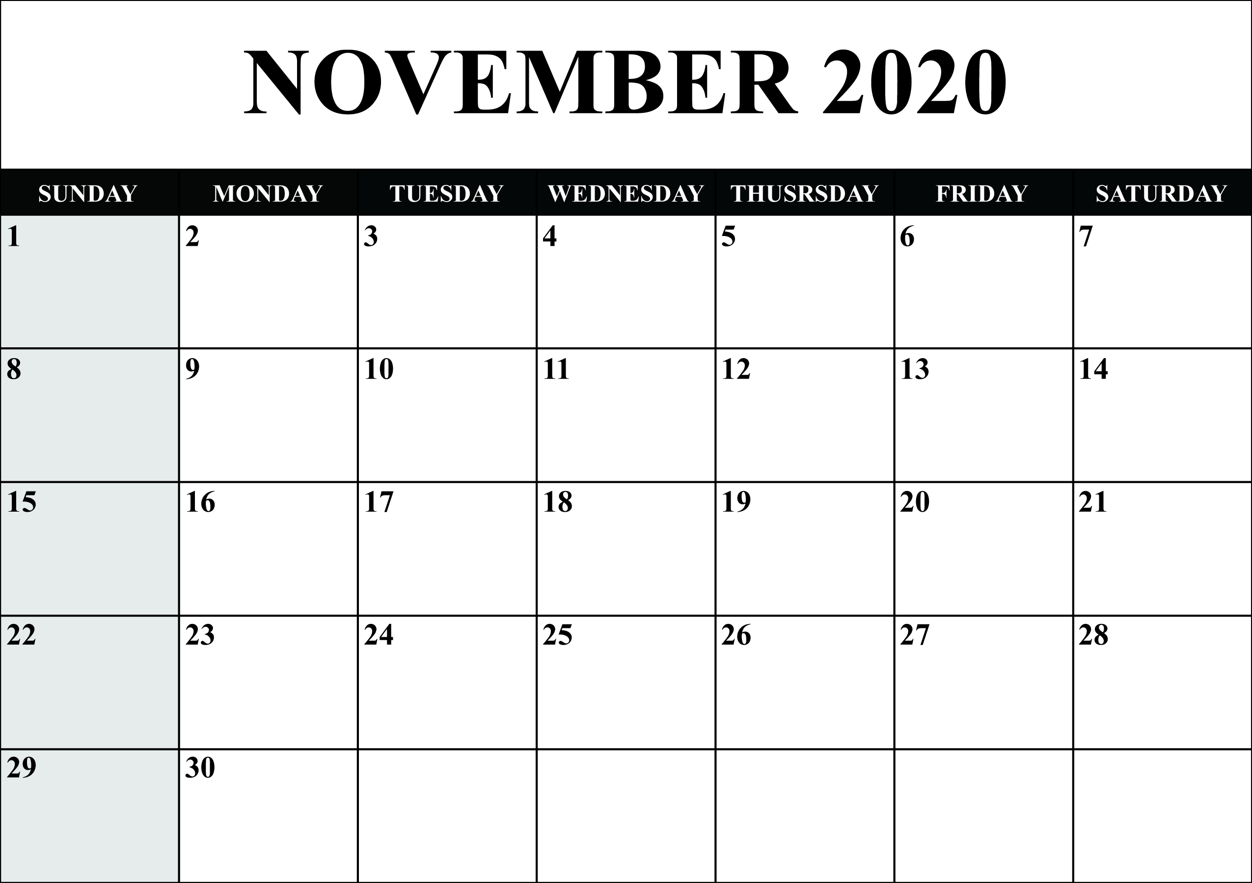 😄printable Yearly Calendar 2020 Template With Holidays [Pdf in Word Calendar Template 2020