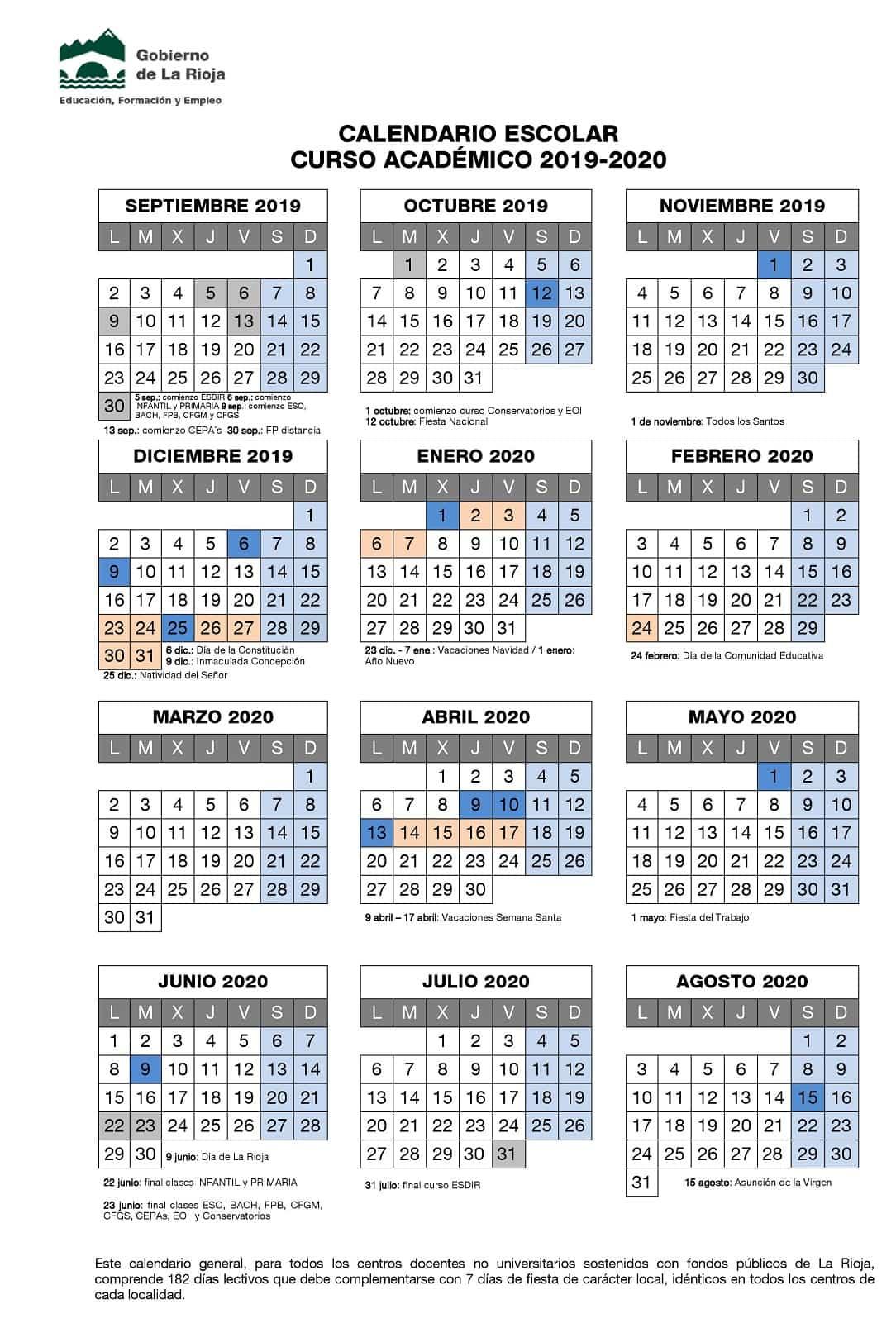 🥇 ▷ 20192020 Школьный Календарь Для Скачивания, Даты И with regard to Sep Calendario 2020