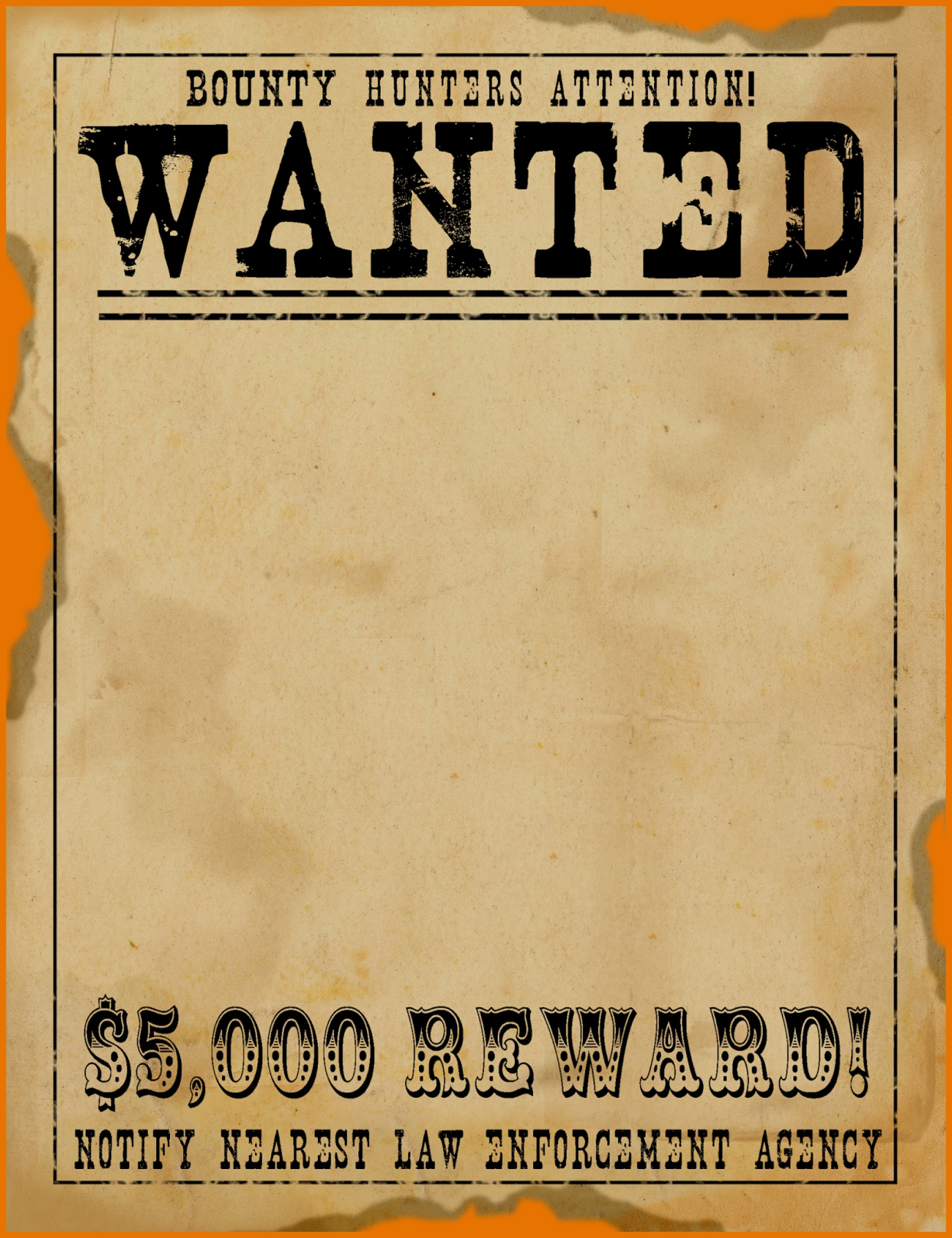 Fearsome Wanted Poster Template Free Ideas Western Download for Make Your Own Wanted Sign