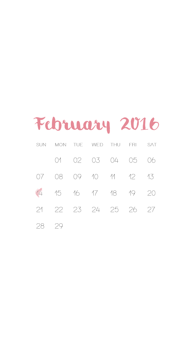 Feb 2016 Calendar | Free Iphone Lock Screen Wallpapers within Iphone Lock Screen Calendar