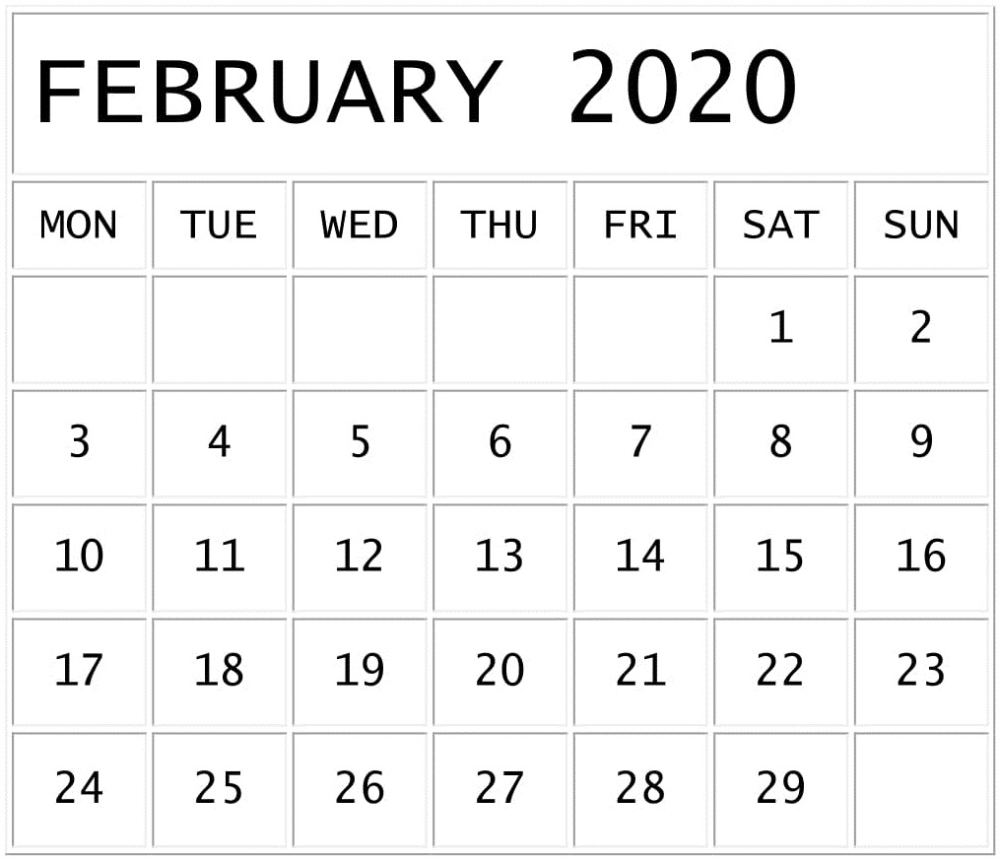 February 2020 Calendar Template Google Sheets Format throughout Google Calendar Template 2020