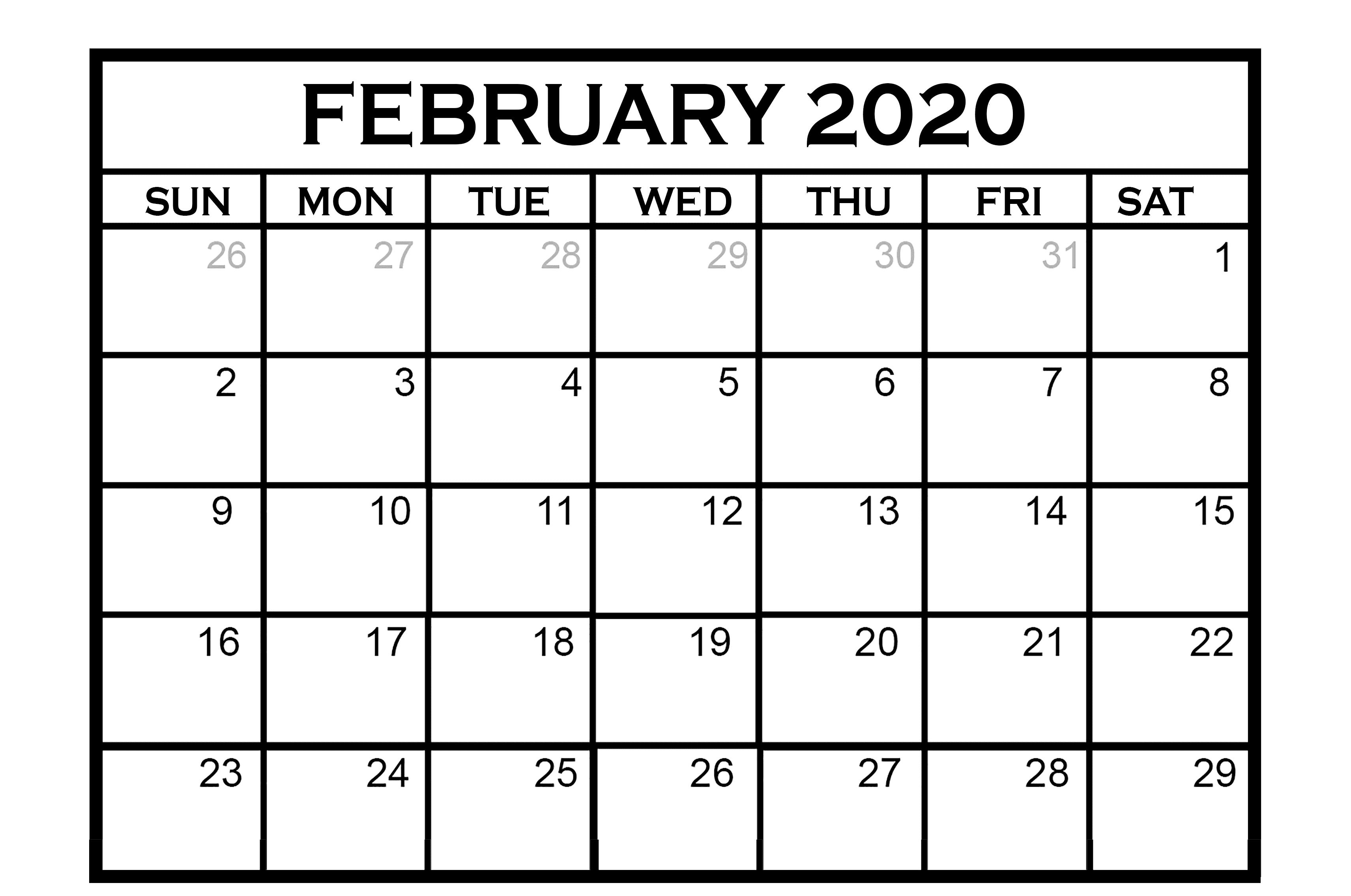February 2020 Calendar Us Holidays, Events List | Free within Feb 2020 Calendar